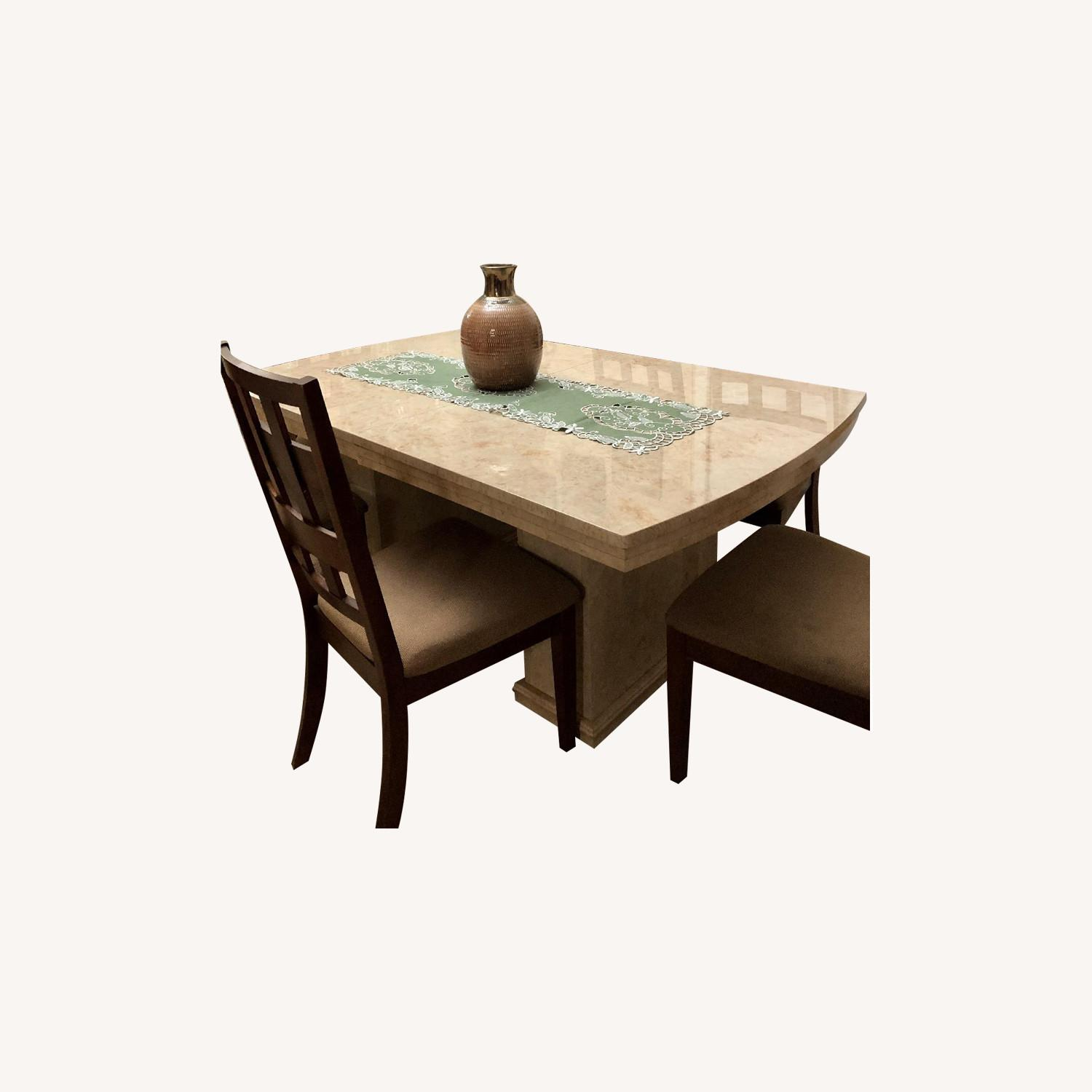 Seaman's Furniture Natural Italian Lacquer Dining Table - image-0