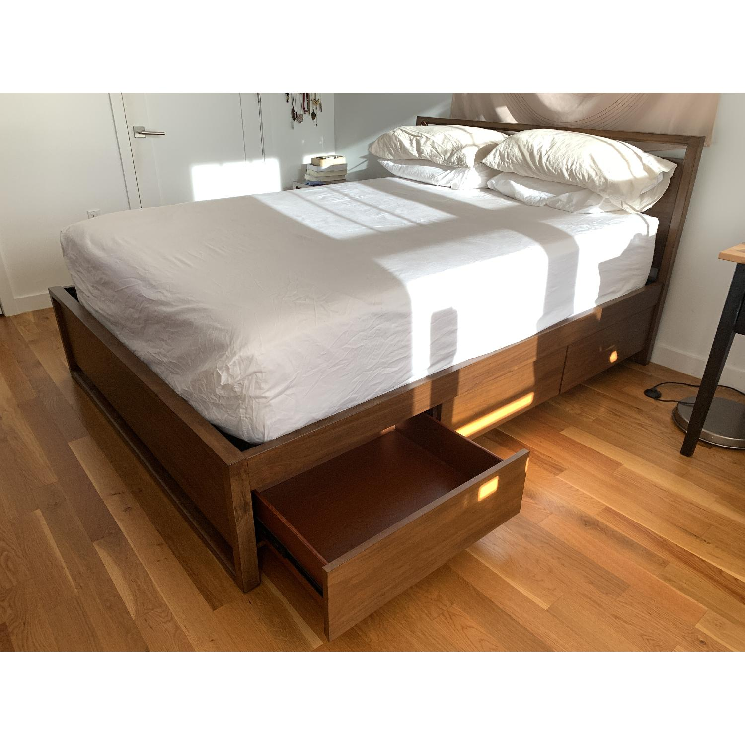 Raymour & Flanigan Aversa Queen 2-Sides Storage Bed - image-2