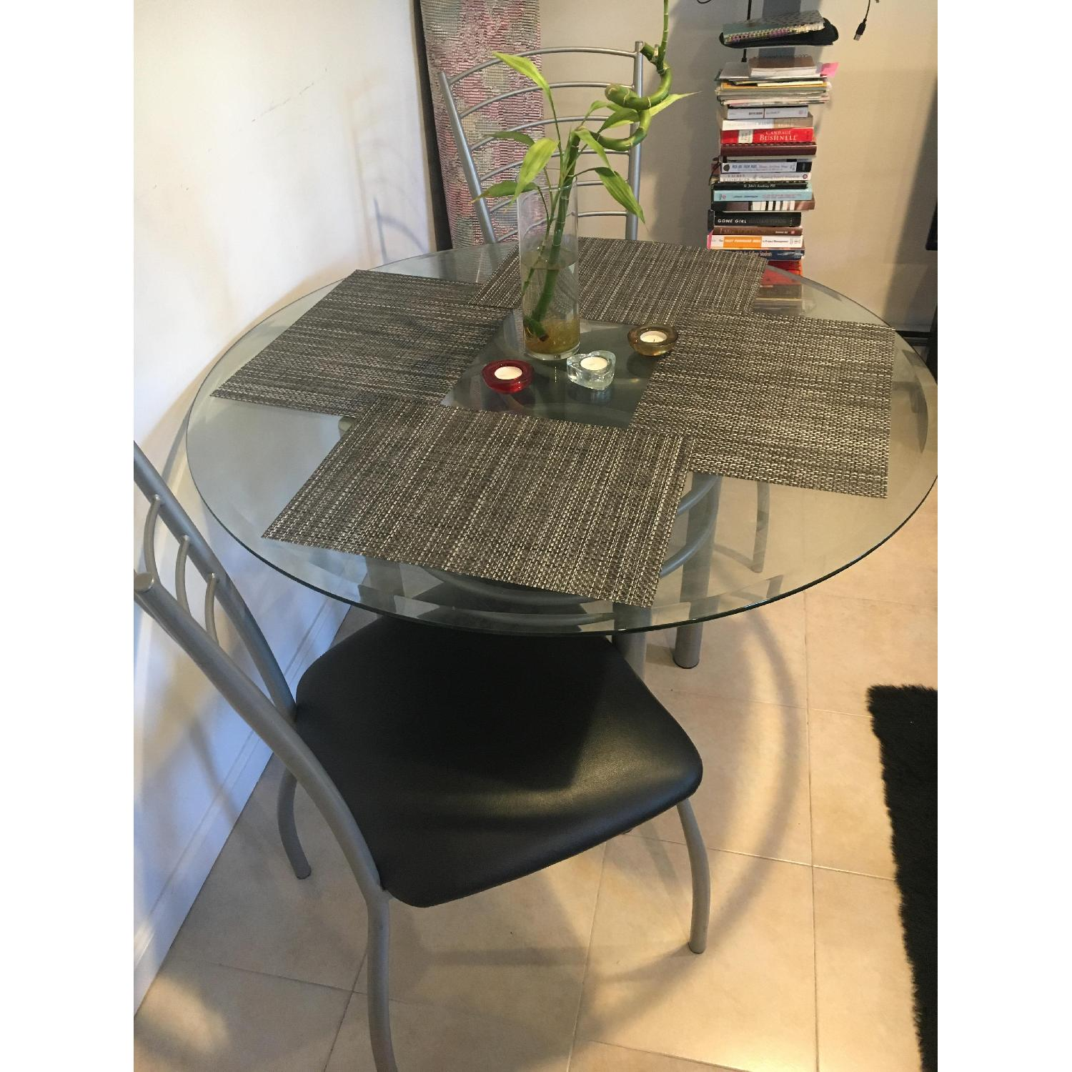 Amisco Glass Dining Table w/ 4 Chairs - image-1