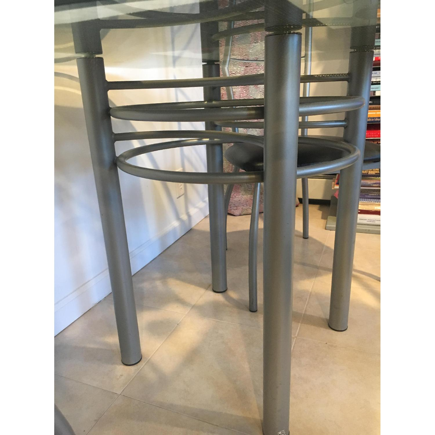 Amisco Glass Dining Table w/ 4 Chairs - image-2