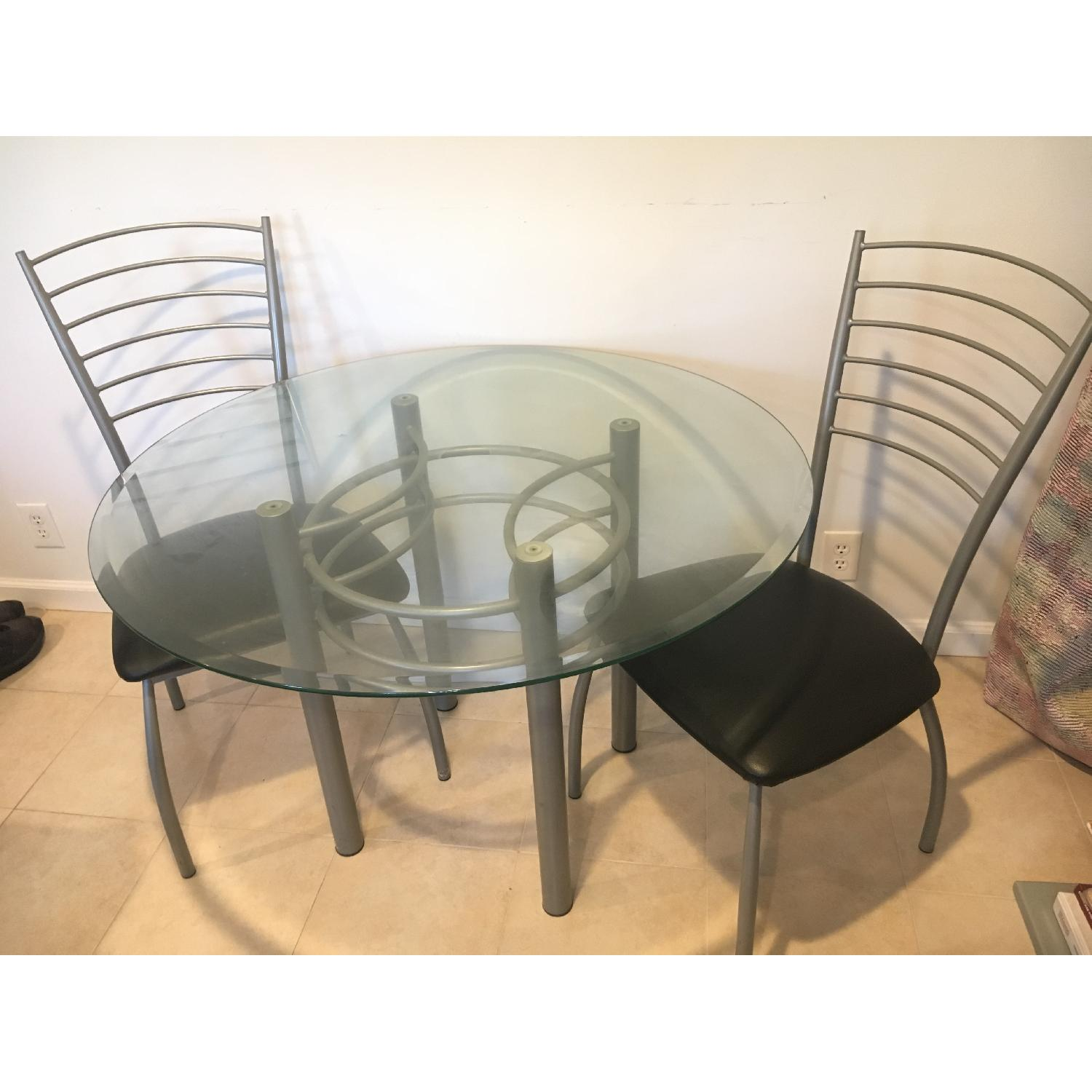 Amisco Glass Dining Table w/ 4 Chairs - image-3