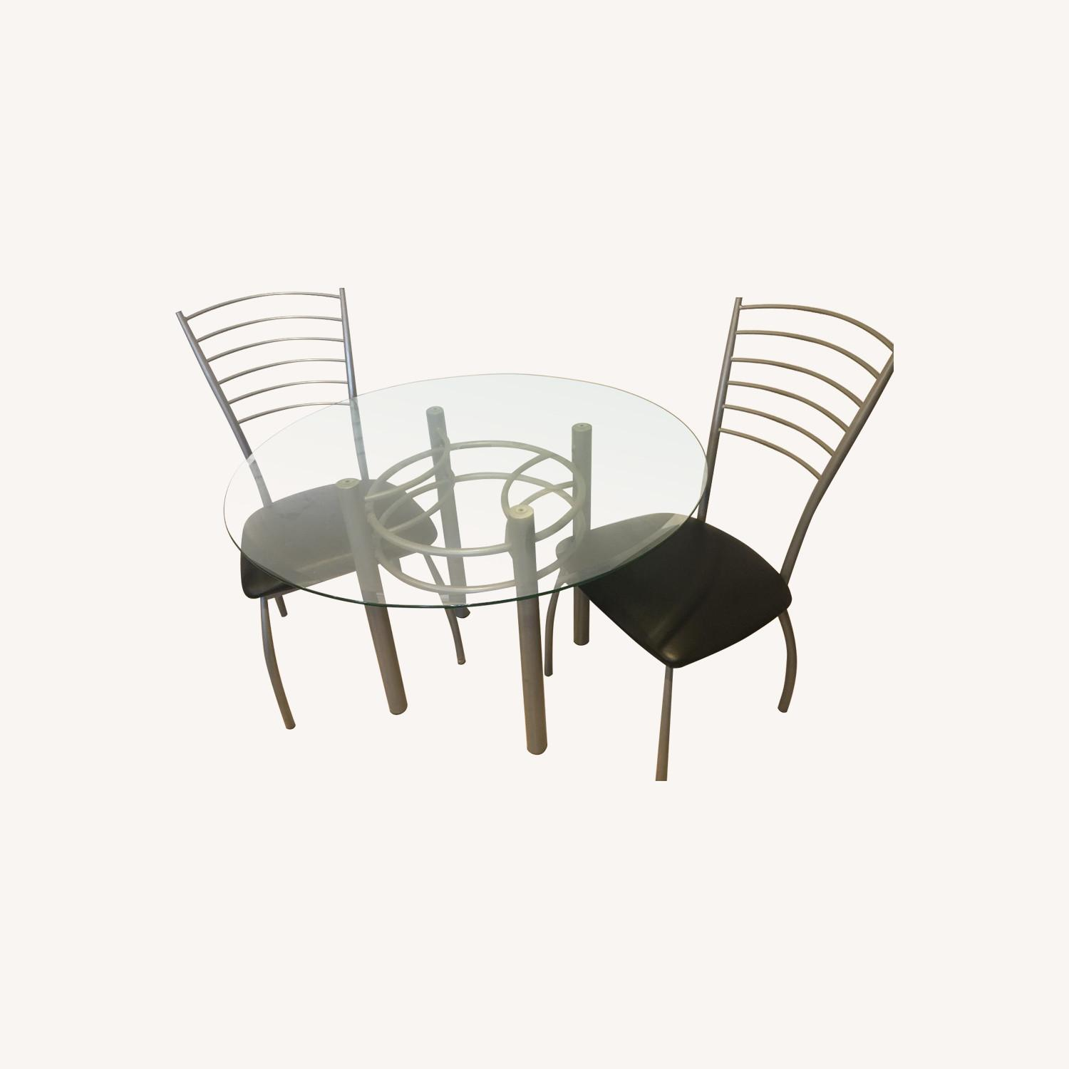 Amisco Glass Dining Table w/ 4 Chairs - image-0