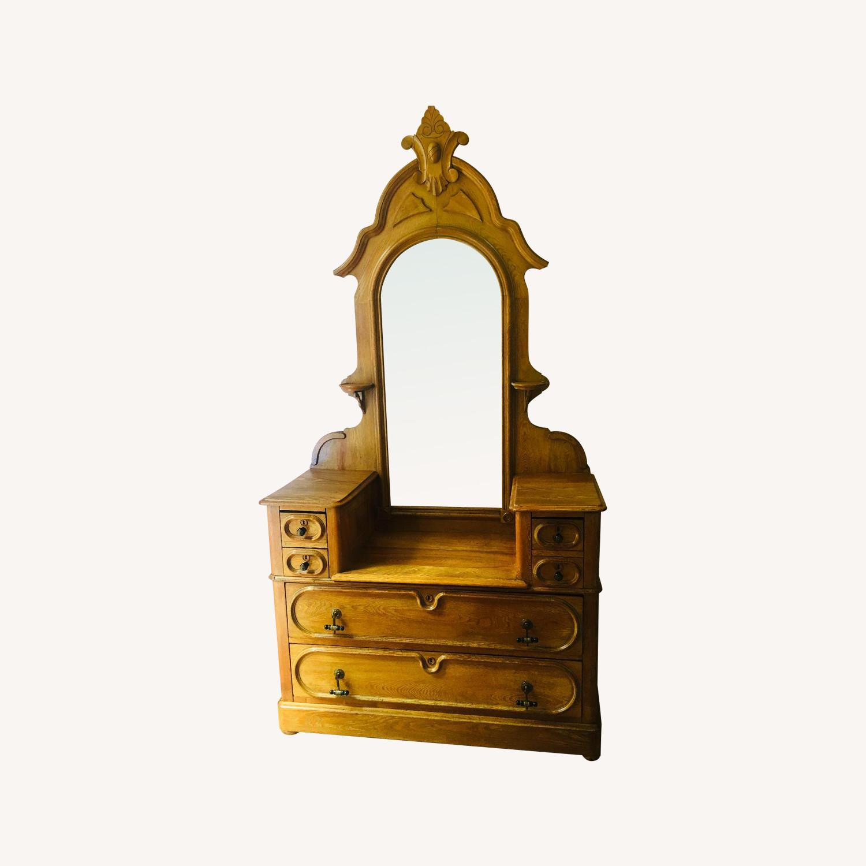 19th Century Antique Dresser w/ Mirror - image-0