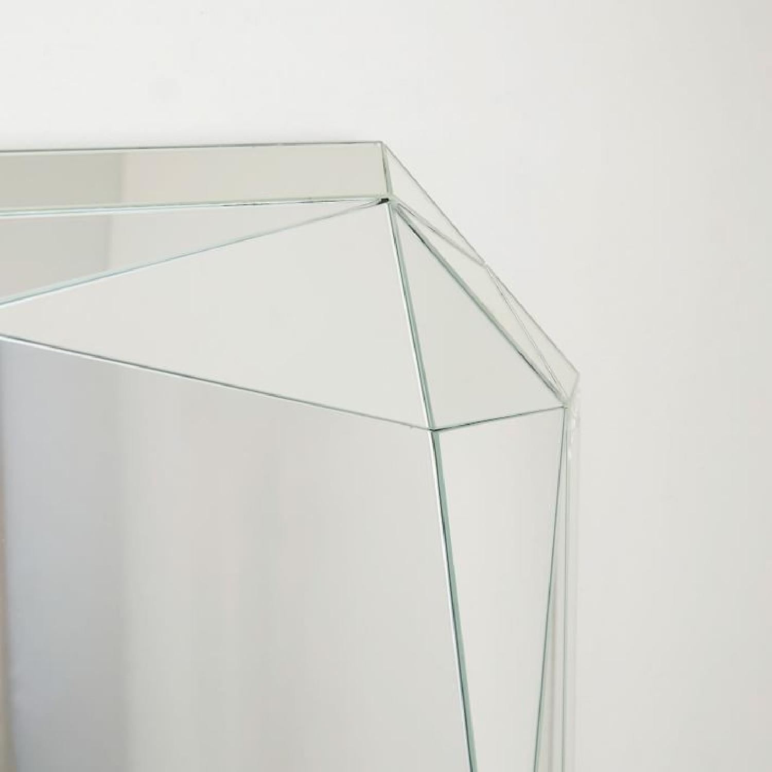 West Elm Emerald Cut Faceted Mirror - image-2