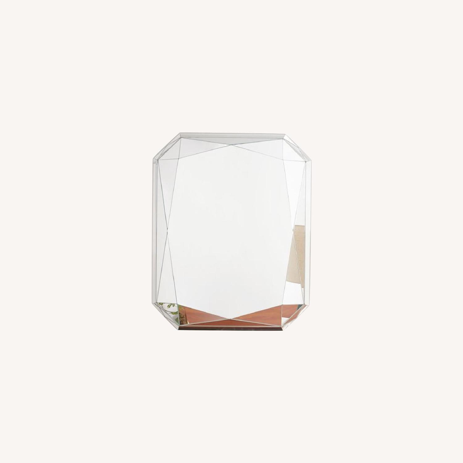 West Elm Emerald Cut Faceted Mirror - image-0