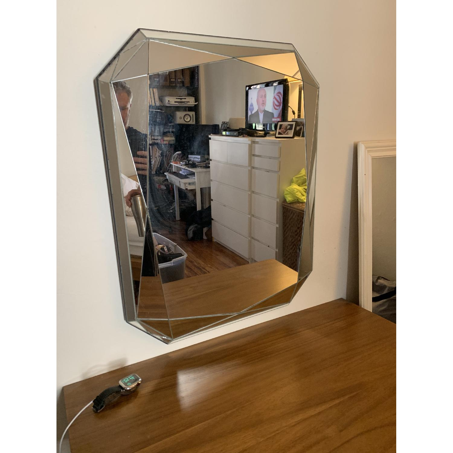 West Elm Emerald Cut Faceted Mirror - image-4