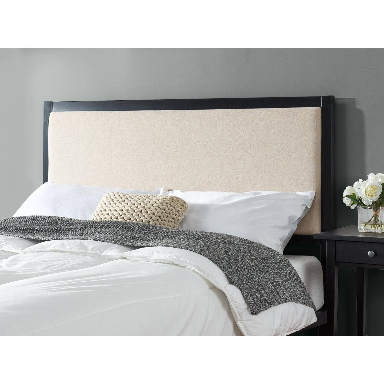 Zinus Kendal Taupe Upholstered Metal Twin Headboard - image-1