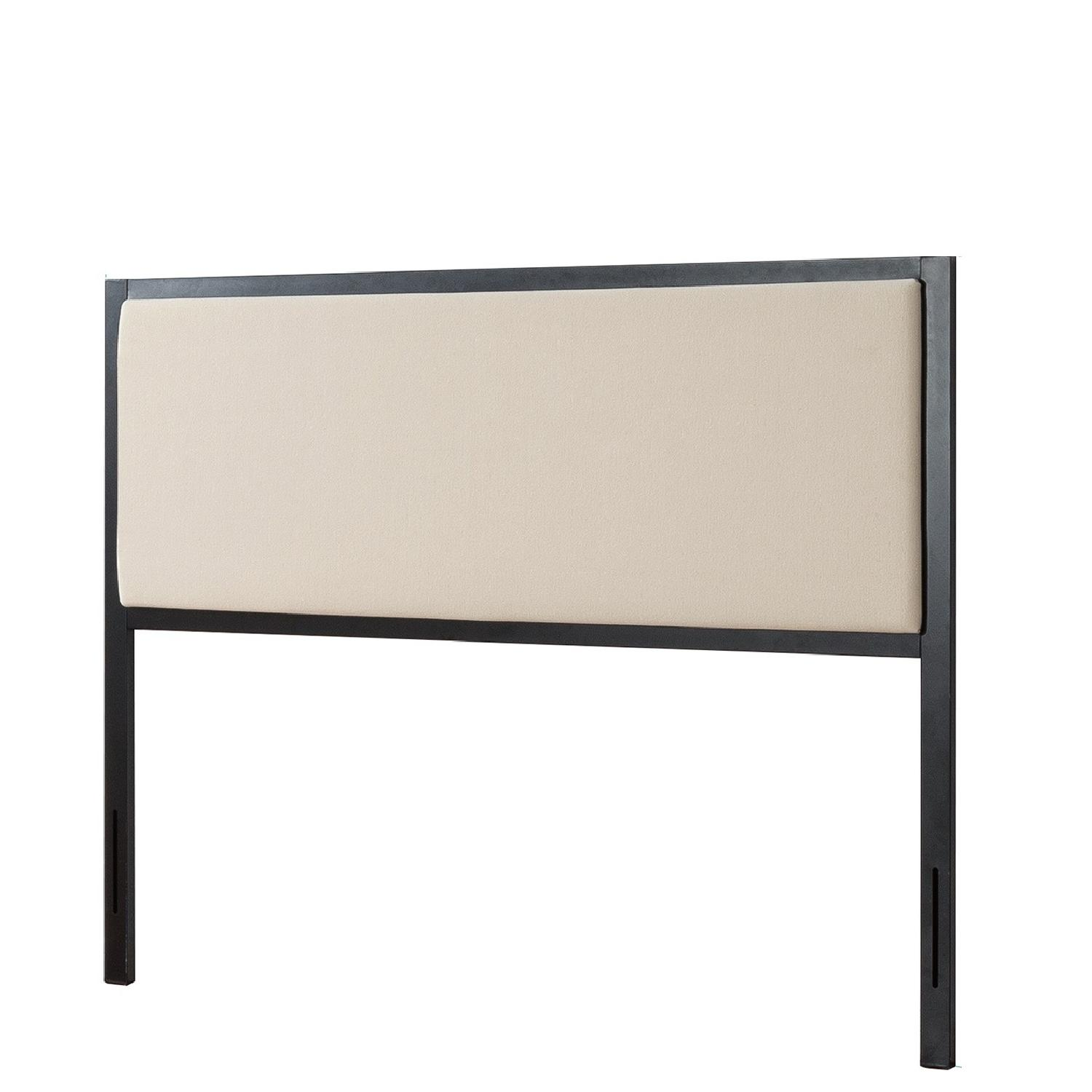 Zinus Kendal Taupe Upholstered Metal Twin Headboard - image-0