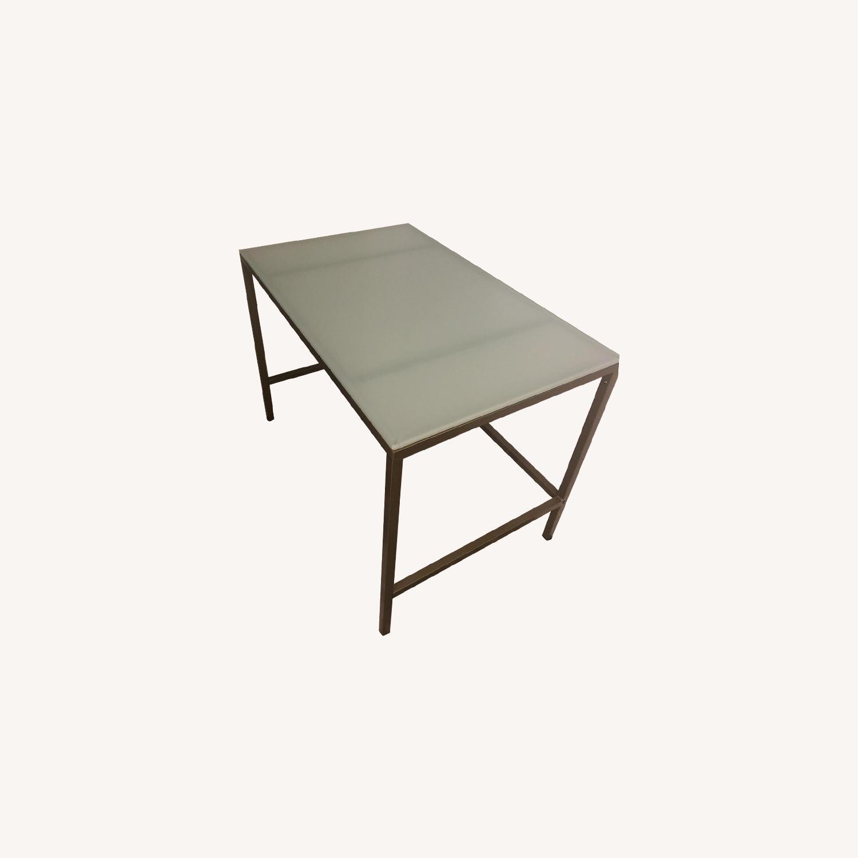 Glass & Metal Desk - image-0