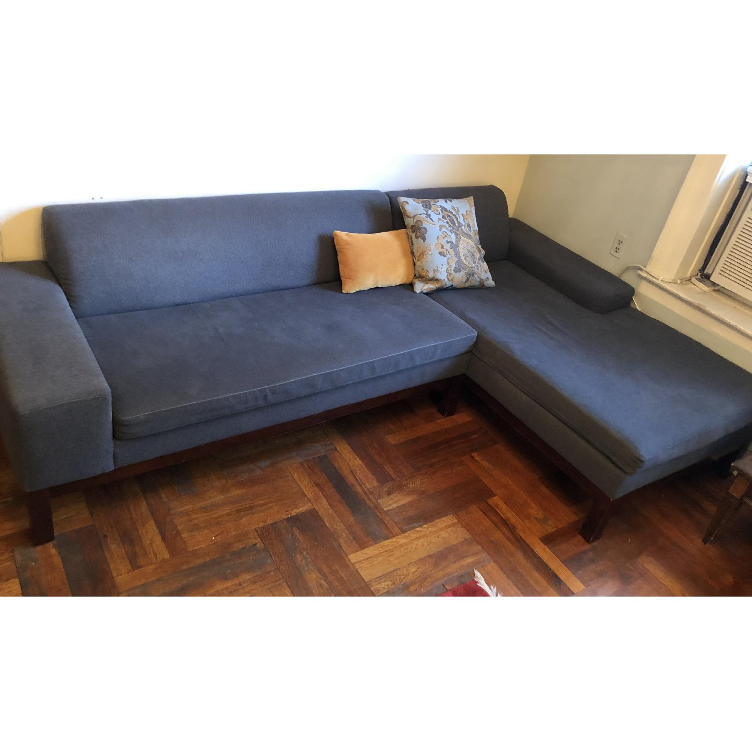 West Elm Sectional Sofa w/ Chaise - image-2