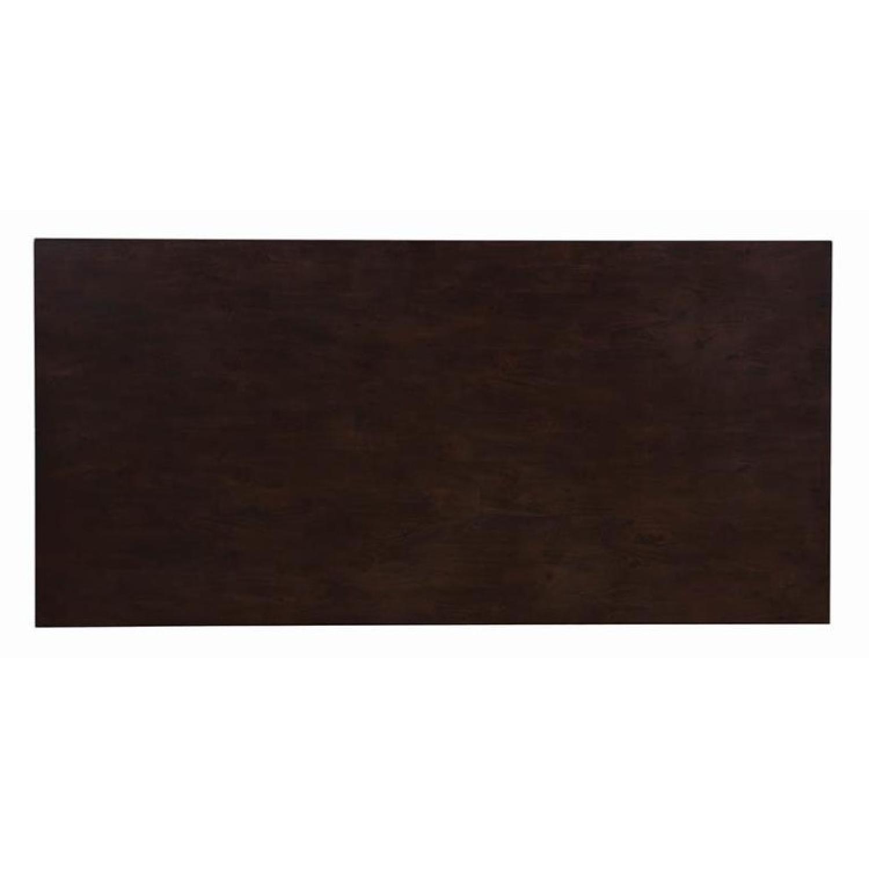 Mid Century Style Rectangular Dining Table in Medium Brown - image-3