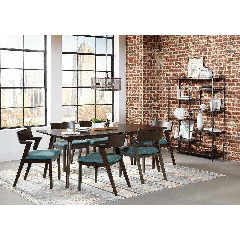Mid Century Style Rectangular Dining Table in Medium Brown - image-4