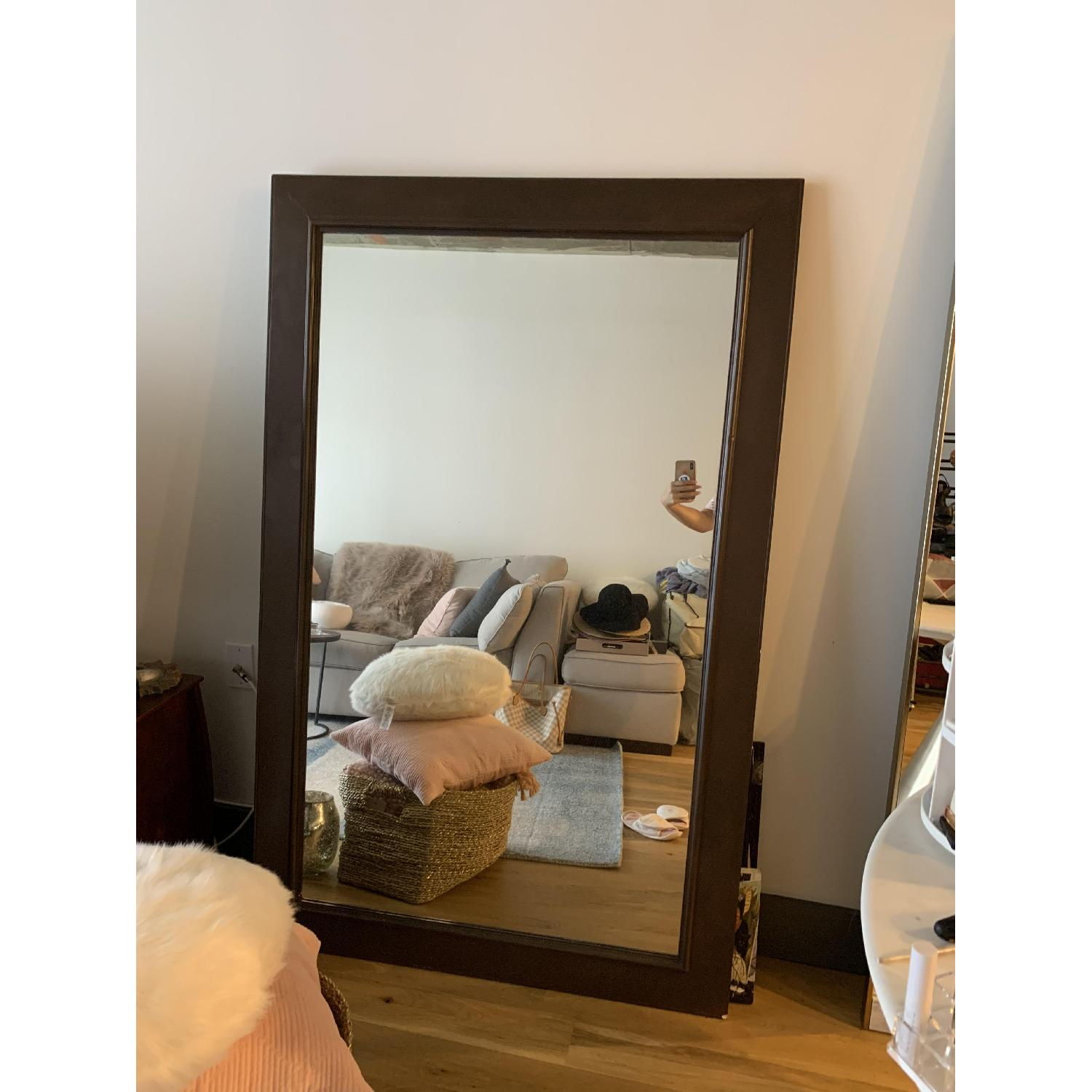 Wood Framed Mirror - image-1