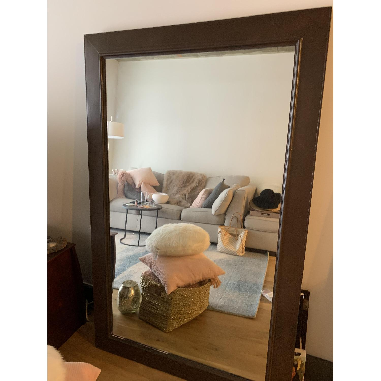 Wood Framed Mirror - image-5