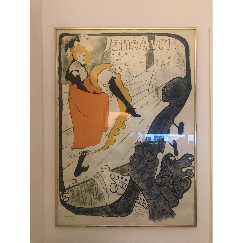Toulouse Lautrec Jane Avril Framed Poster - image-1