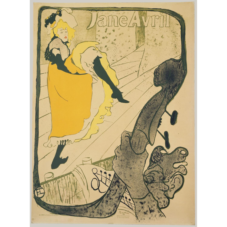 Toulouse Lautrec Jane Avril Framed Poster - image-0