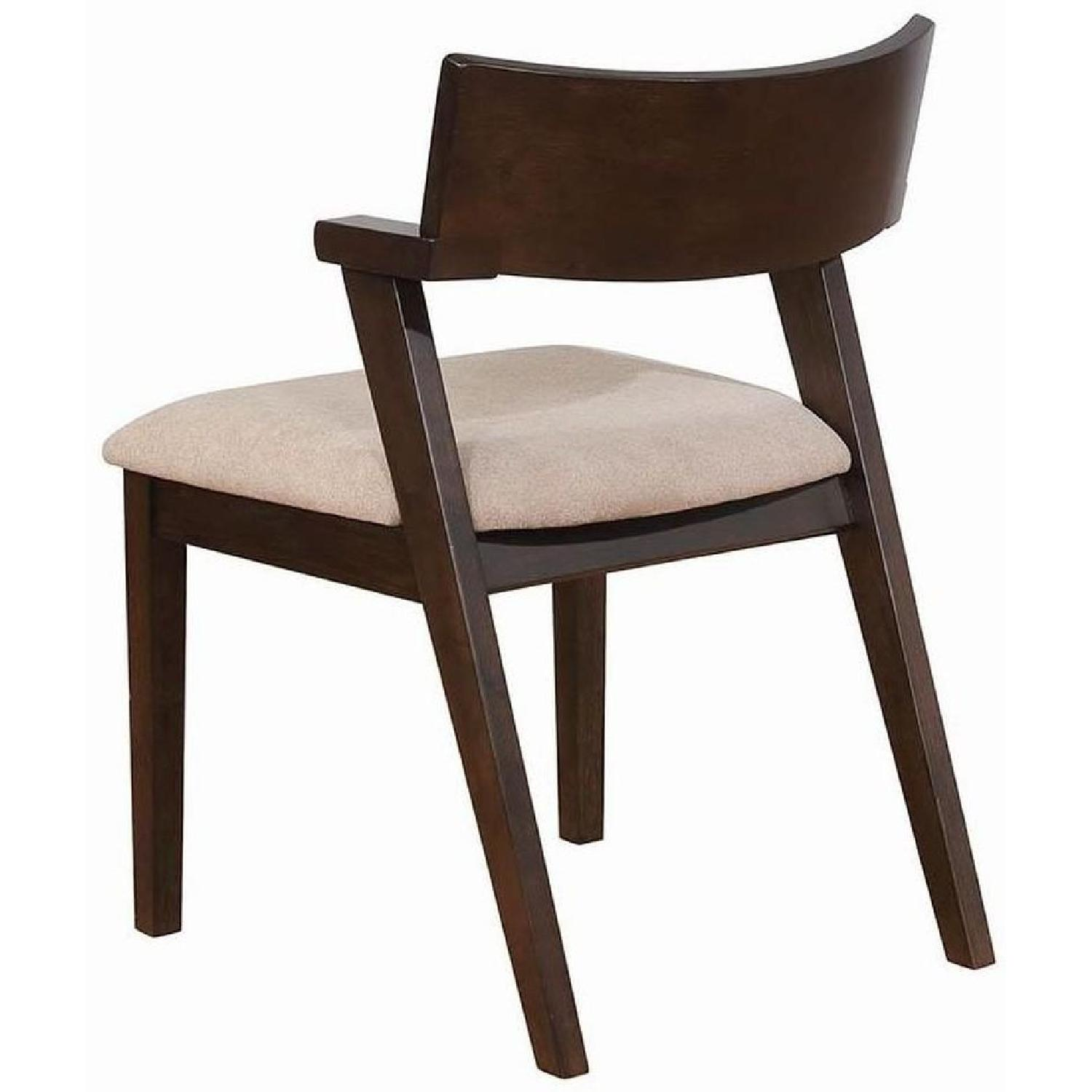 Mid Century Style Dining Chair w/ Light Brown Cushioned Seat - image-3