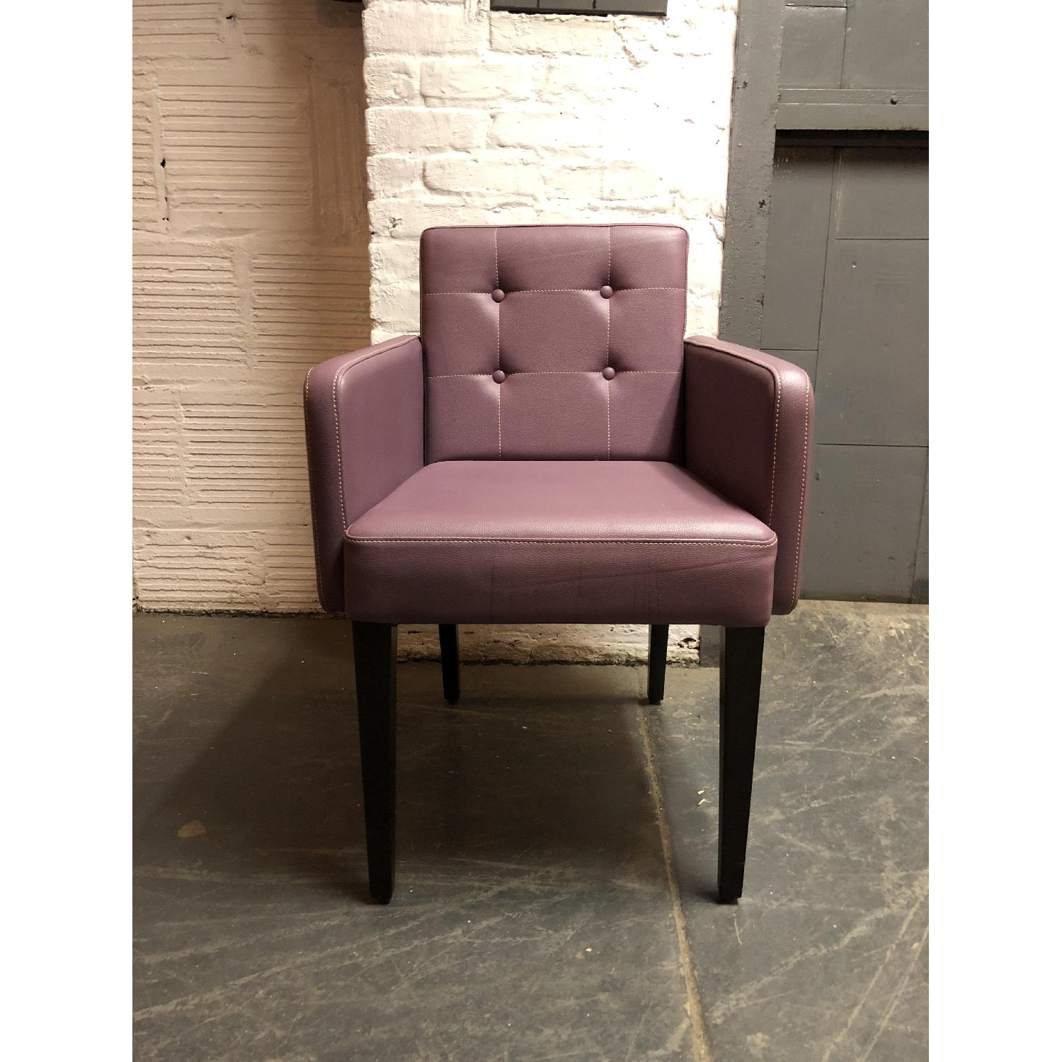 Coulboy & Co Custom Faux Leather Dining Chairs - image-1