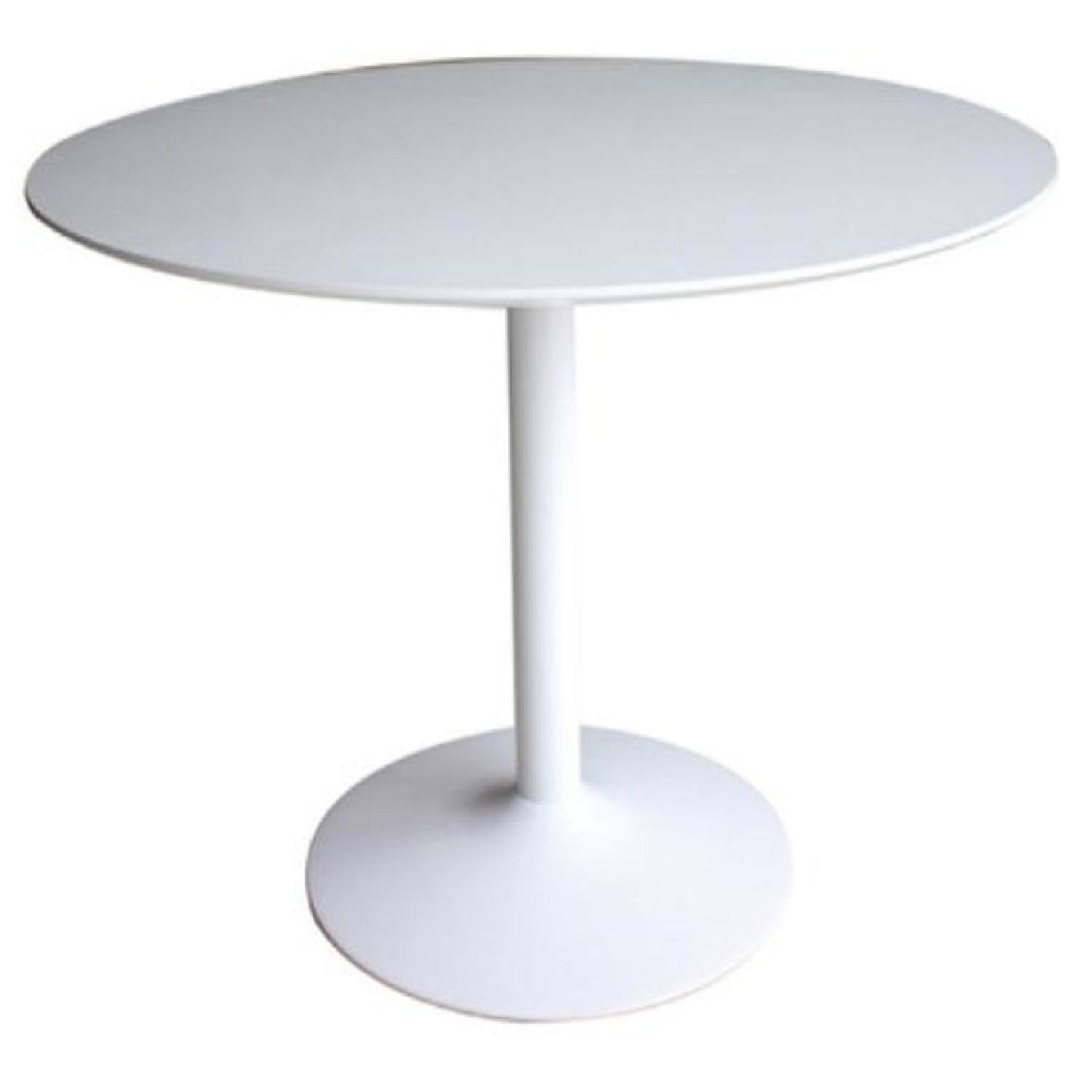 Mid Century Modern Style Dining Table in High Gloss Finish - image-0