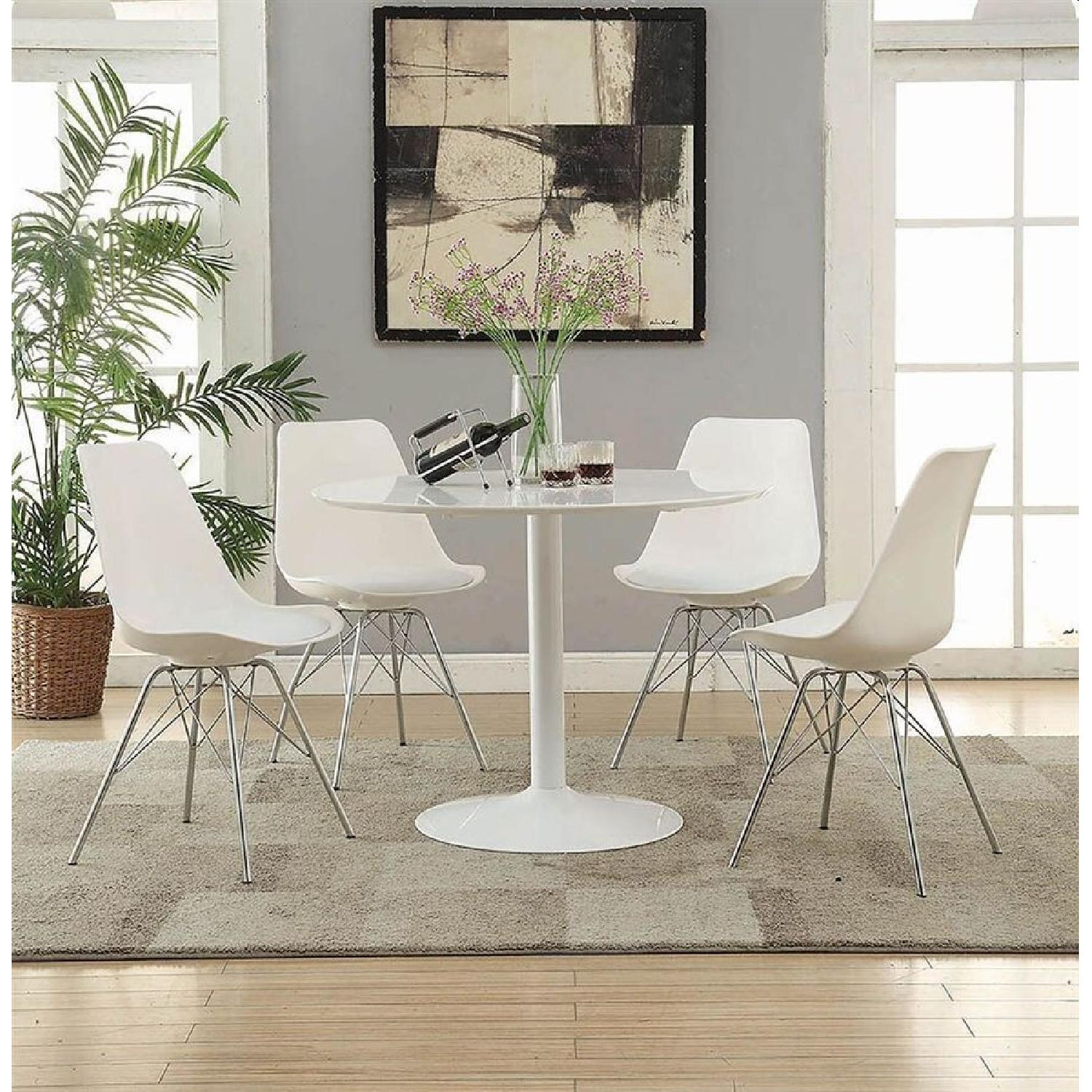 Mid Century Modern Style Dining Table in High Gloss Finish - image-1