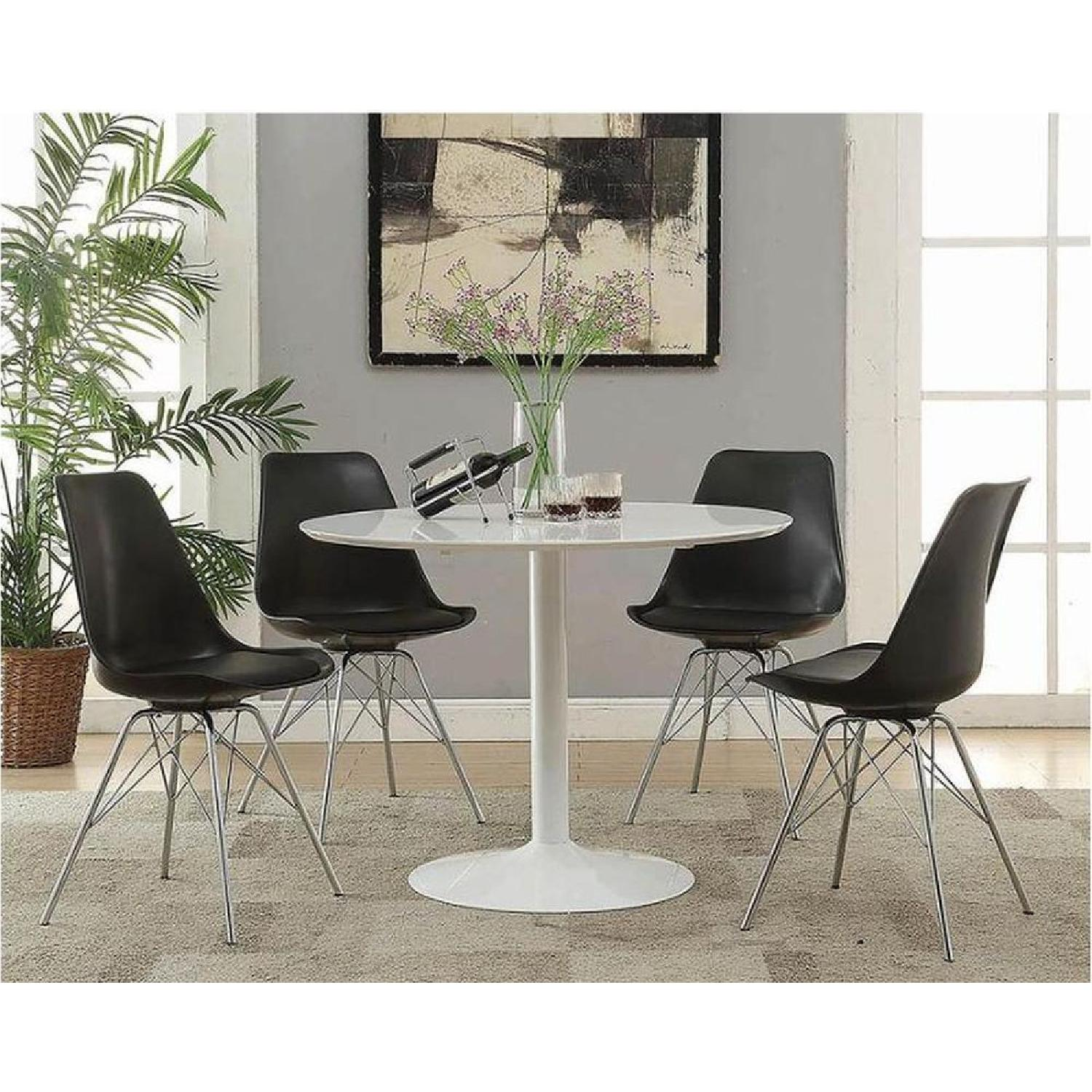 Mid Century Modern Style Dining Table in High Gloss Finish - image-2
