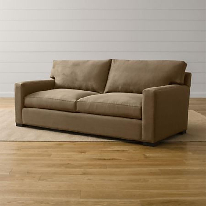 Crate & Barrel Axis II Suede Sofa - image-1