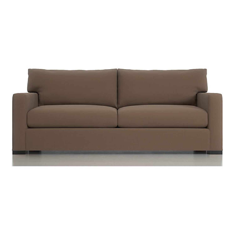 Crate & Barrel Axis II Suede Sofa - image-0