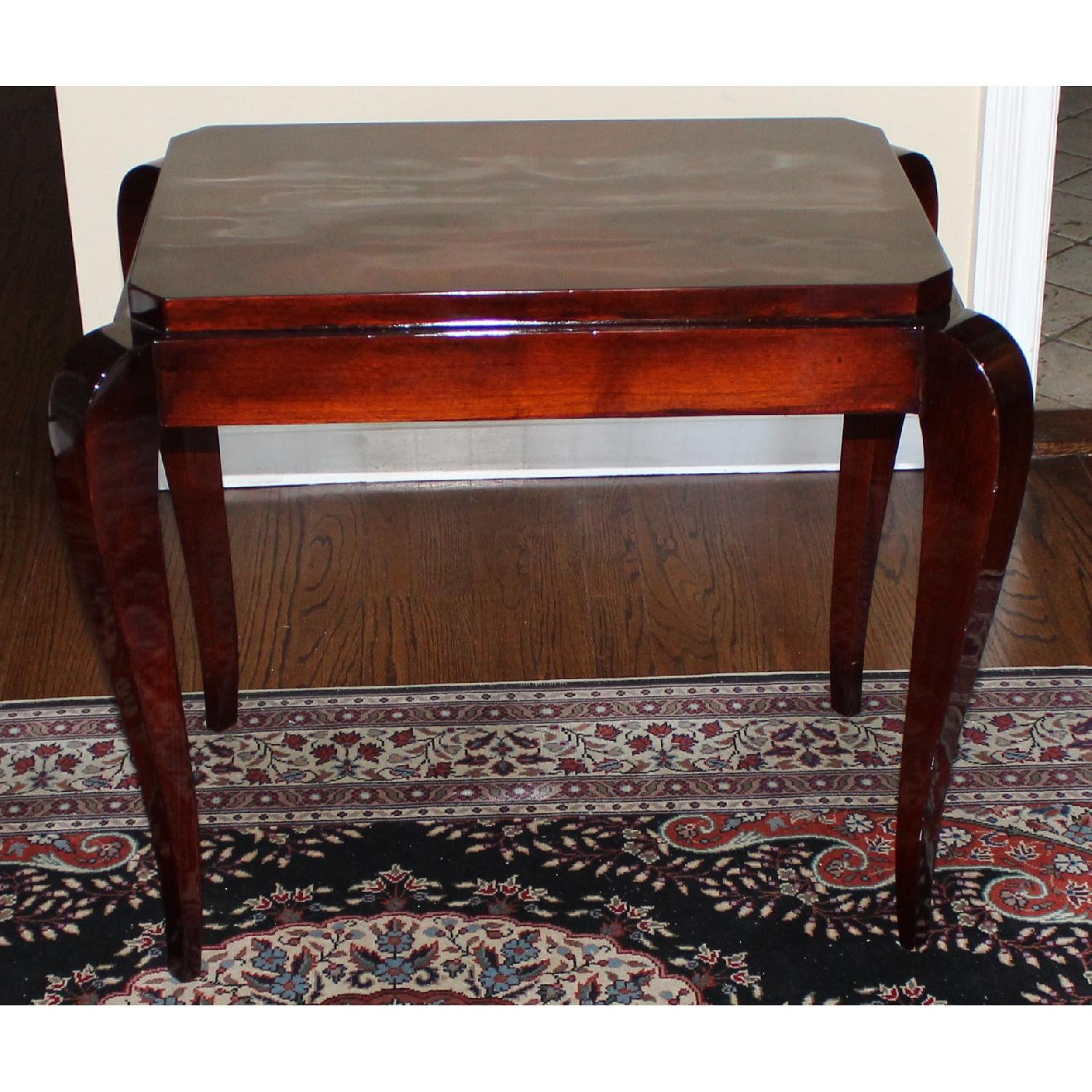 Gracious Art Deco Side Table w/ Tapered Legs - image-1