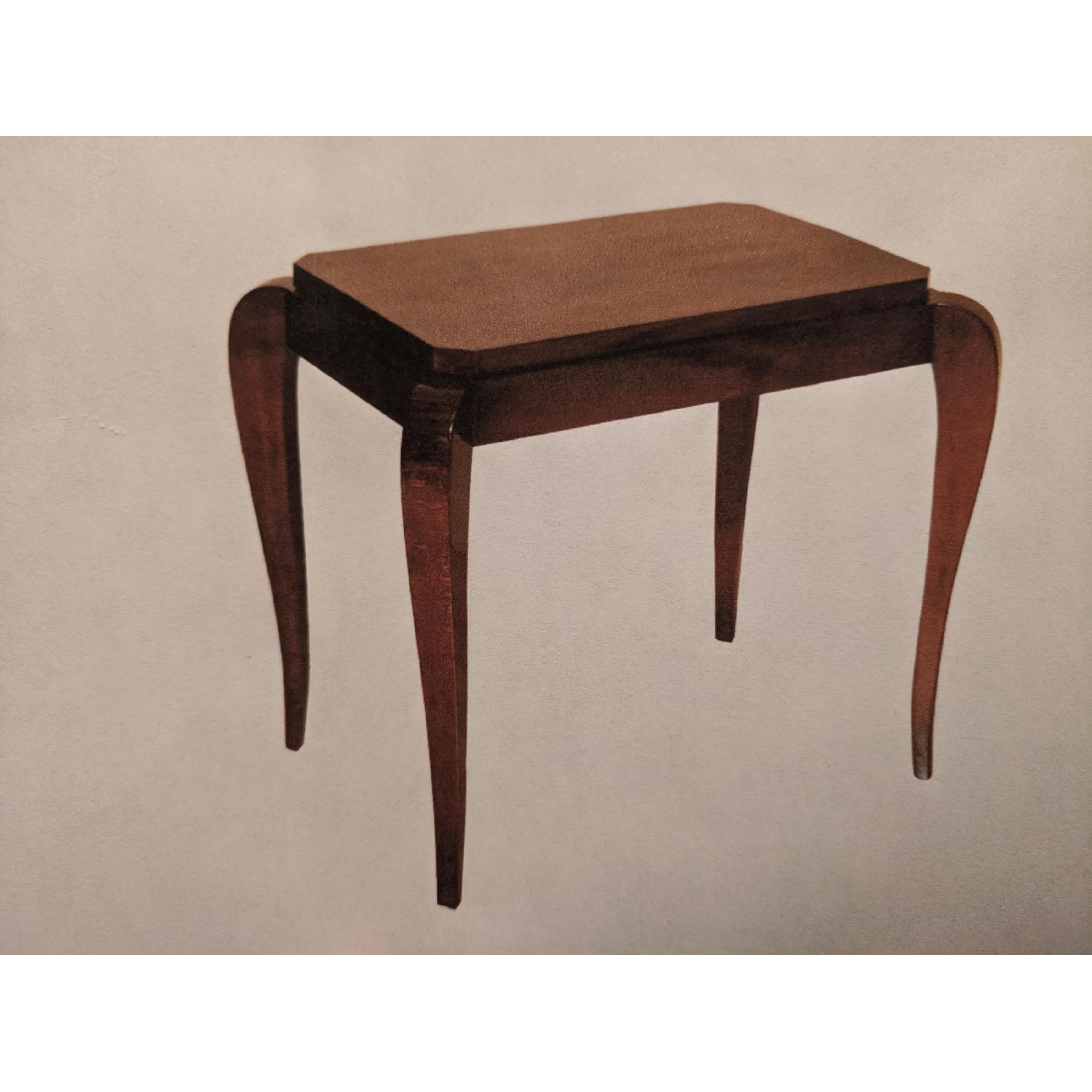 Gracious Art Deco Side Table w/ Tapered Legs - image-2