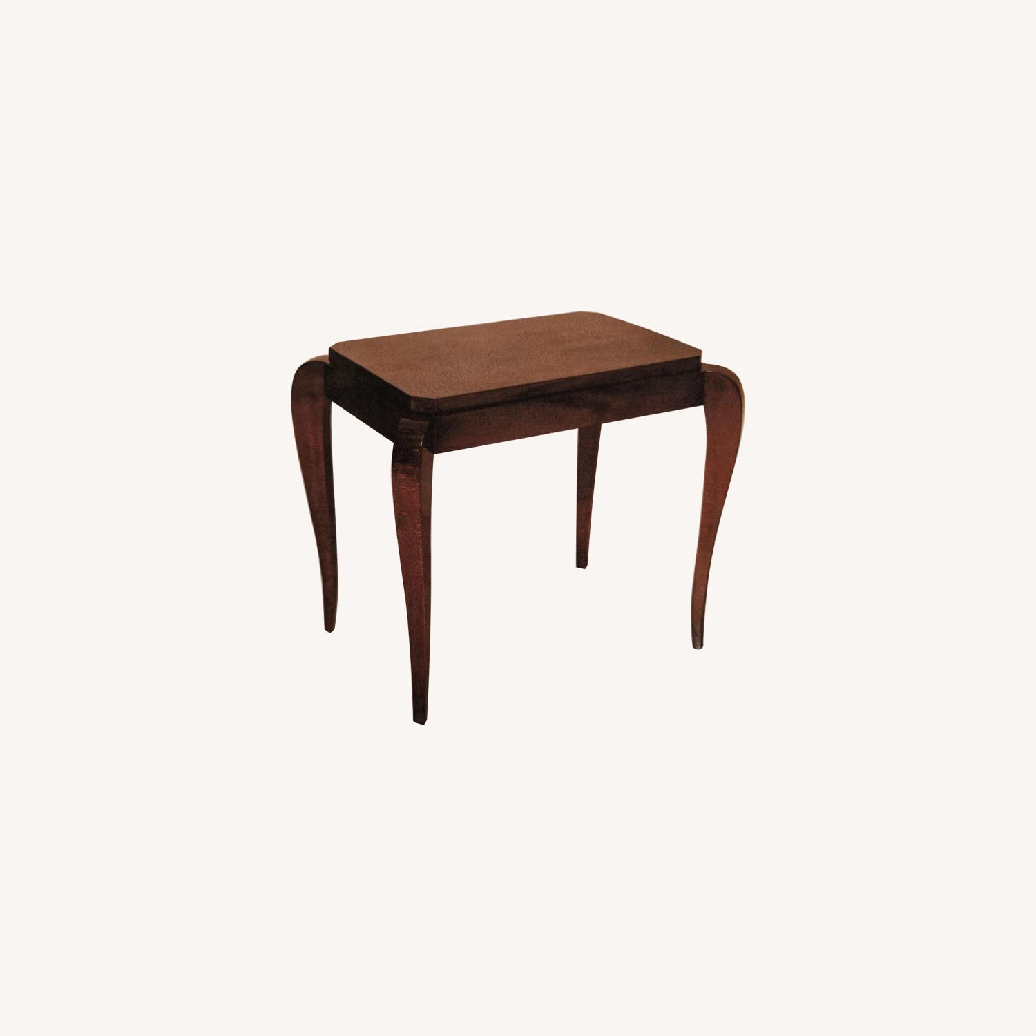 Gracious Art Deco Side Table w/ Tapered Legs - image-0