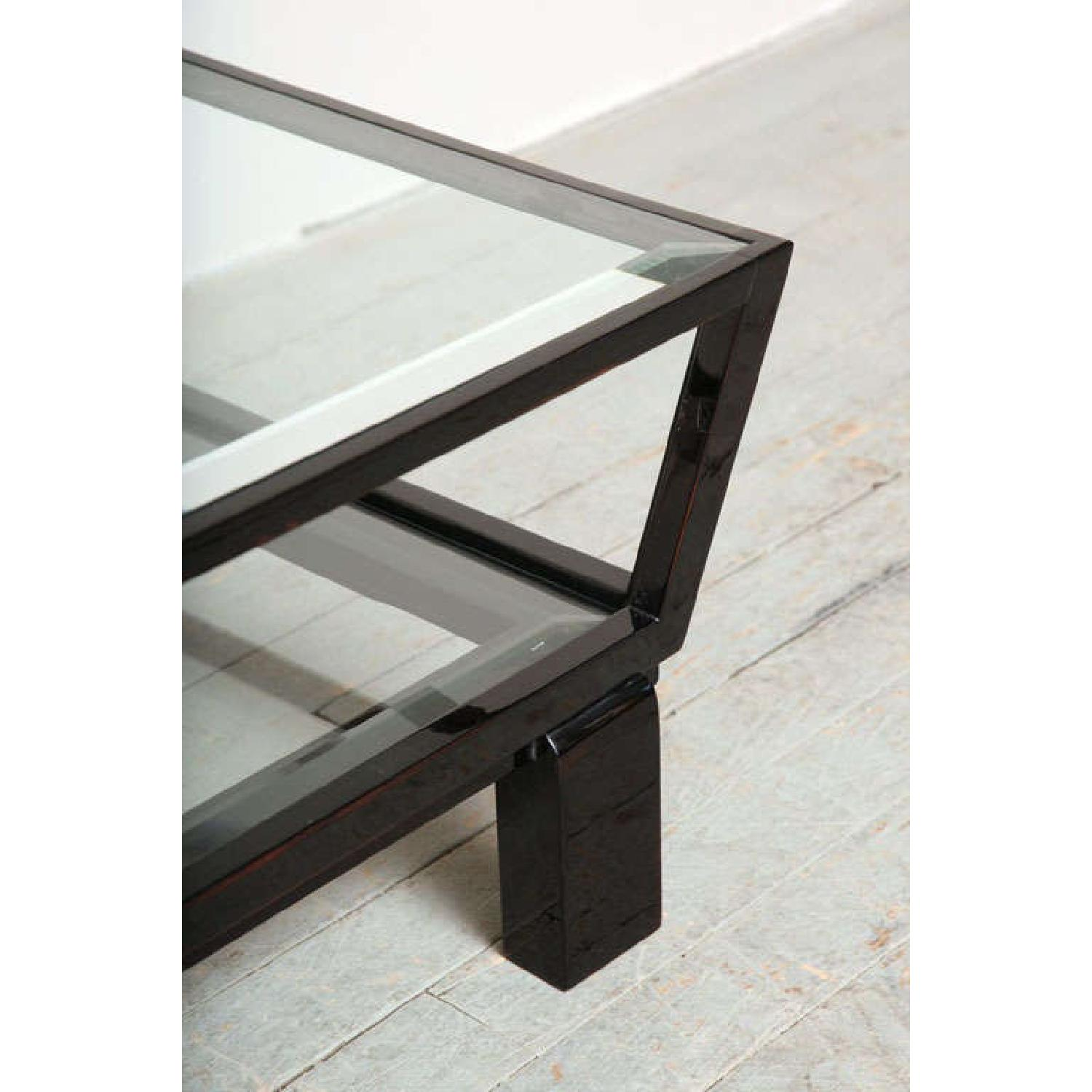 Black & Glass Top Side Tables - image-2