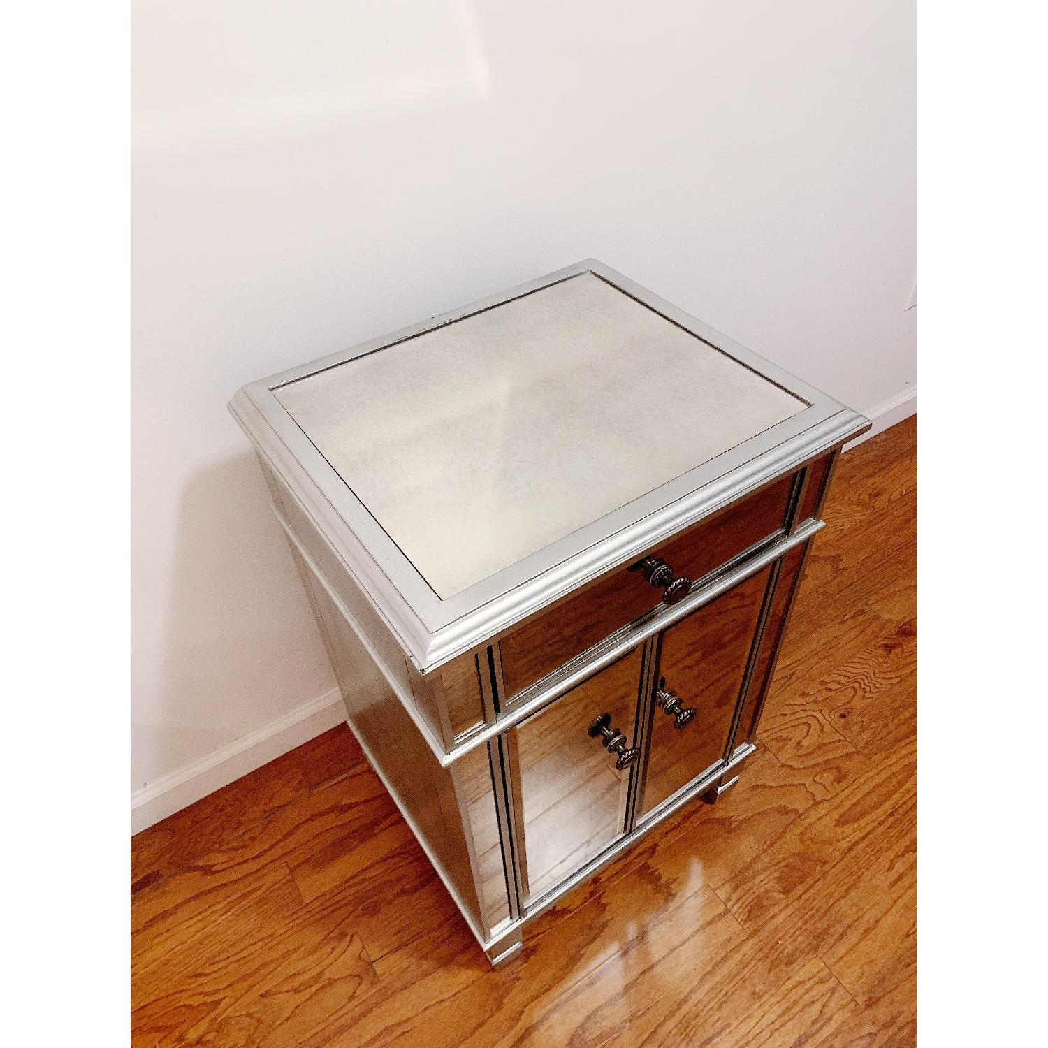 Pier 1 Imports Mirrored Silver Bedside Chest - image-4