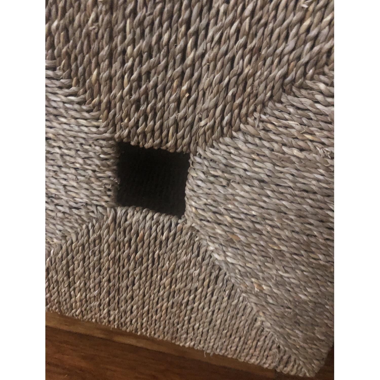 Ikea Shelving Unit w/ 4 Wicker Storage Baskets - image-4