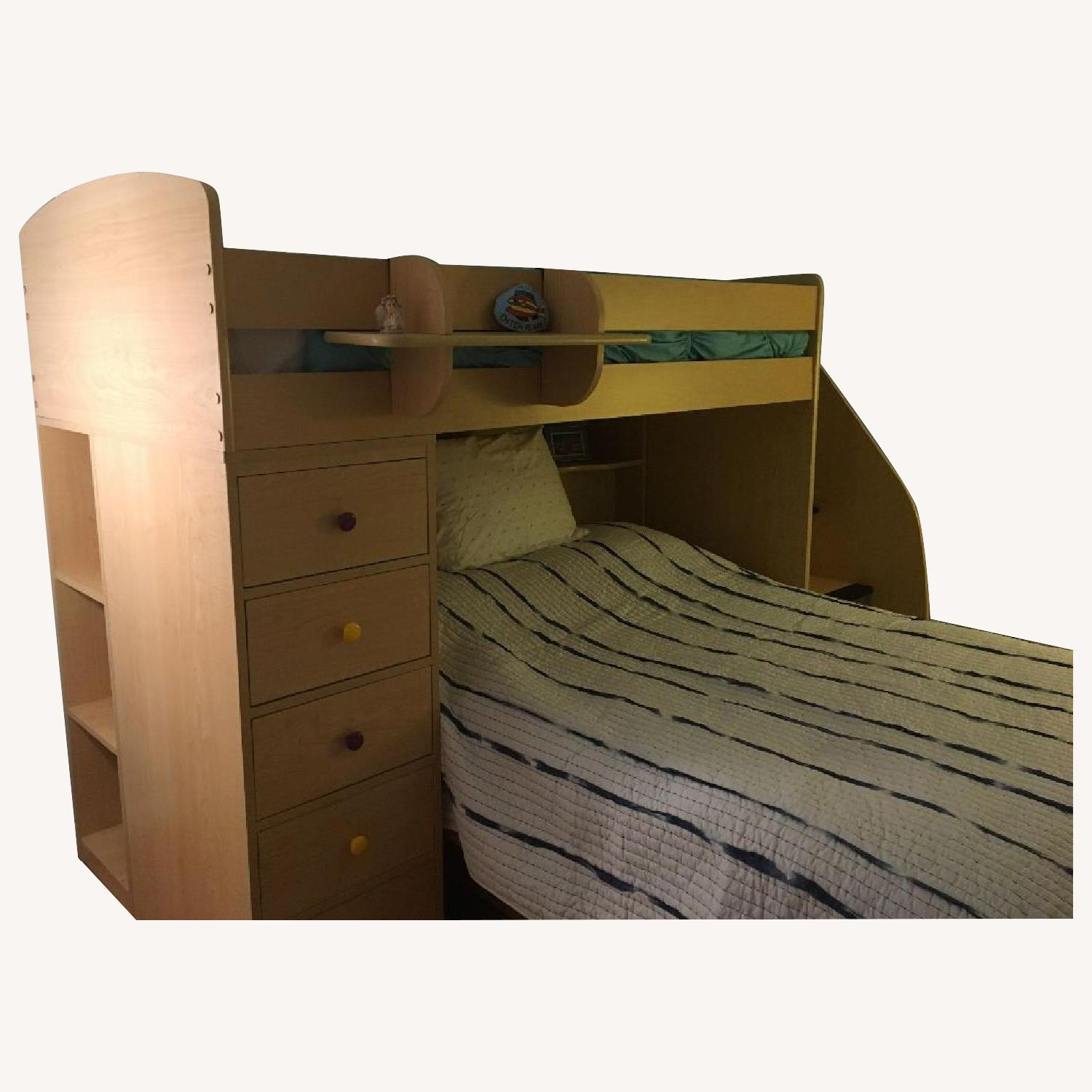 Berg Twin Over Full Bunk Bed w/ Storage - image-0