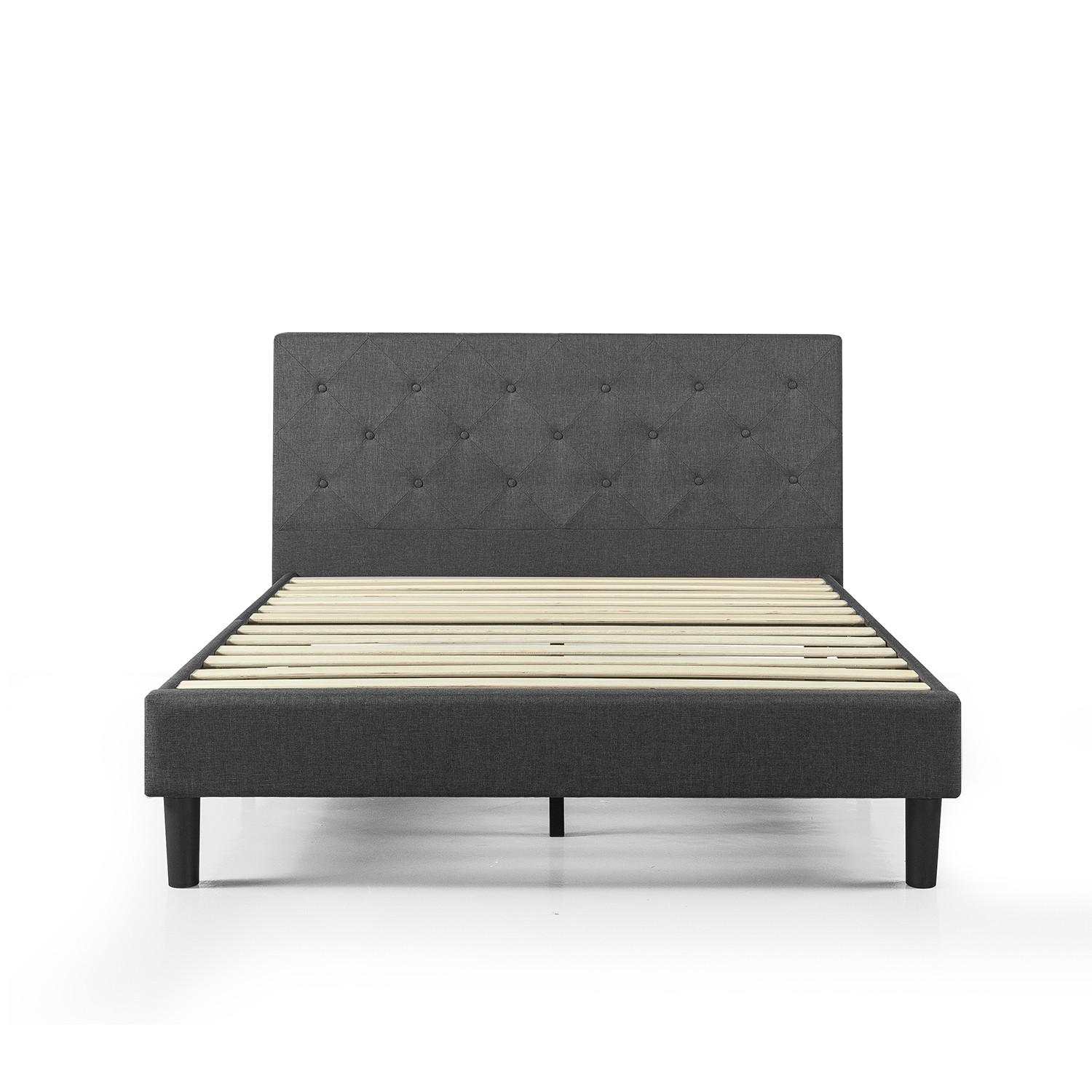 Zinus Shalini Upholstered Diamond Stitched Platform Bed - image-0