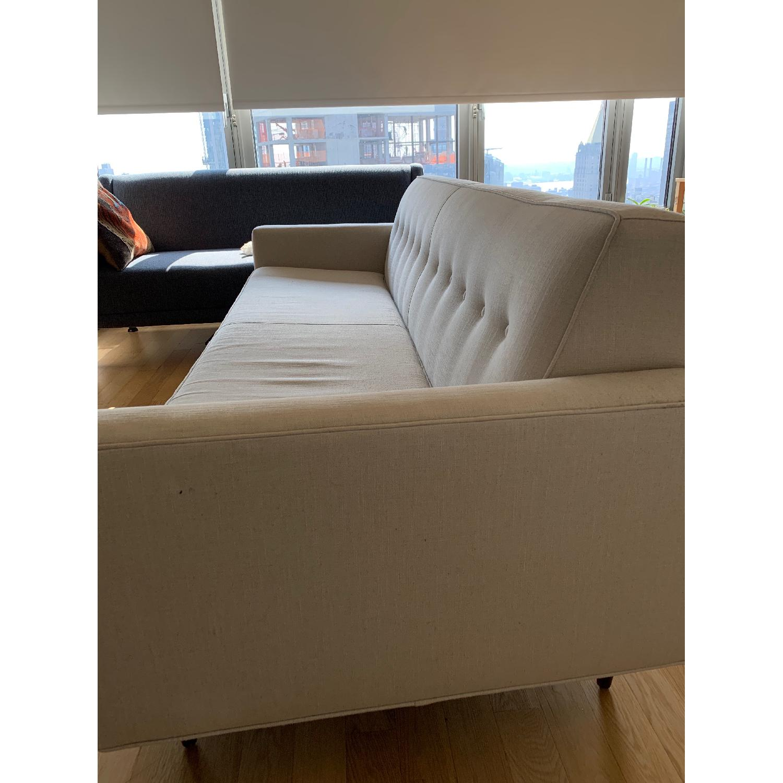 Design Within Reach Bantam Sofa in Linen Weave Flax/Walnut ...