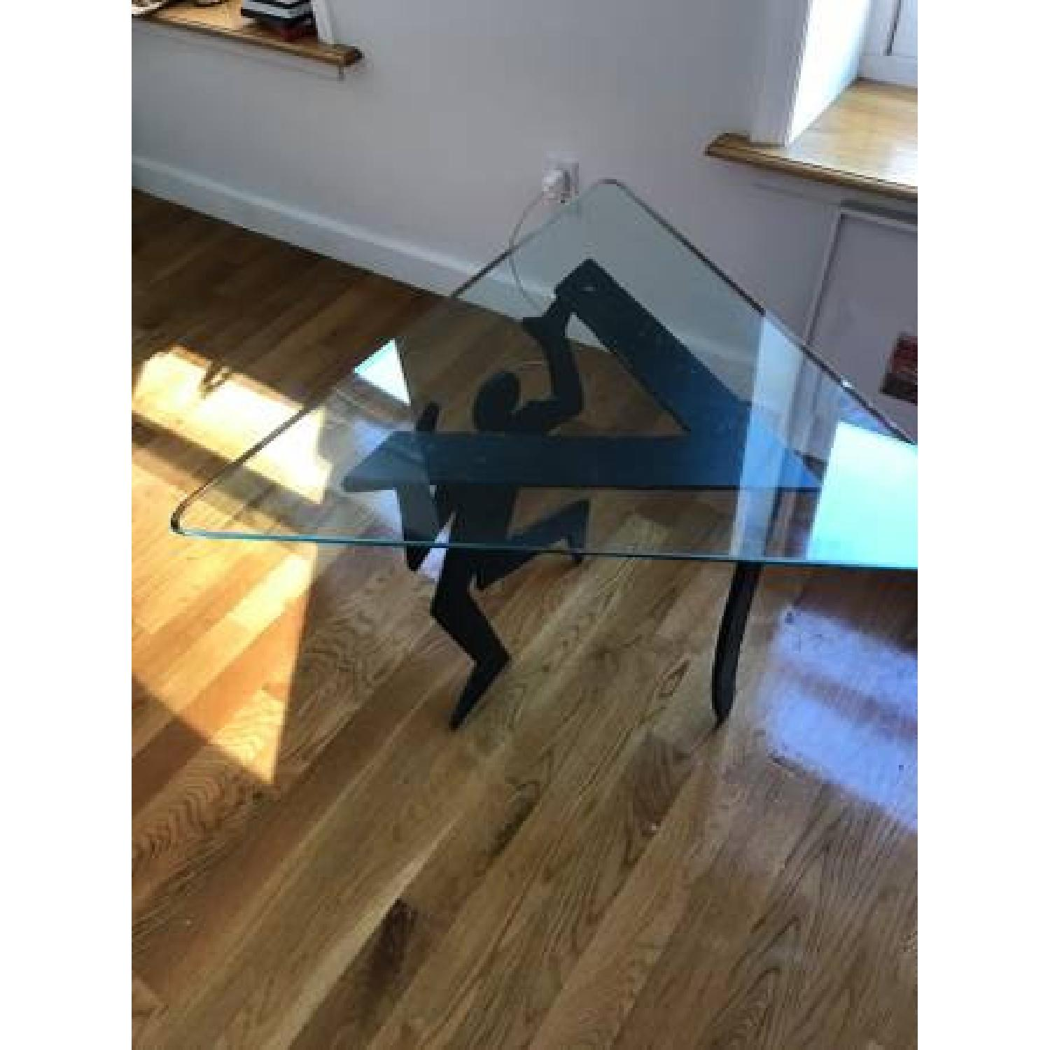 Keith Haring inspired Triangle Glass Side Tables - image-2