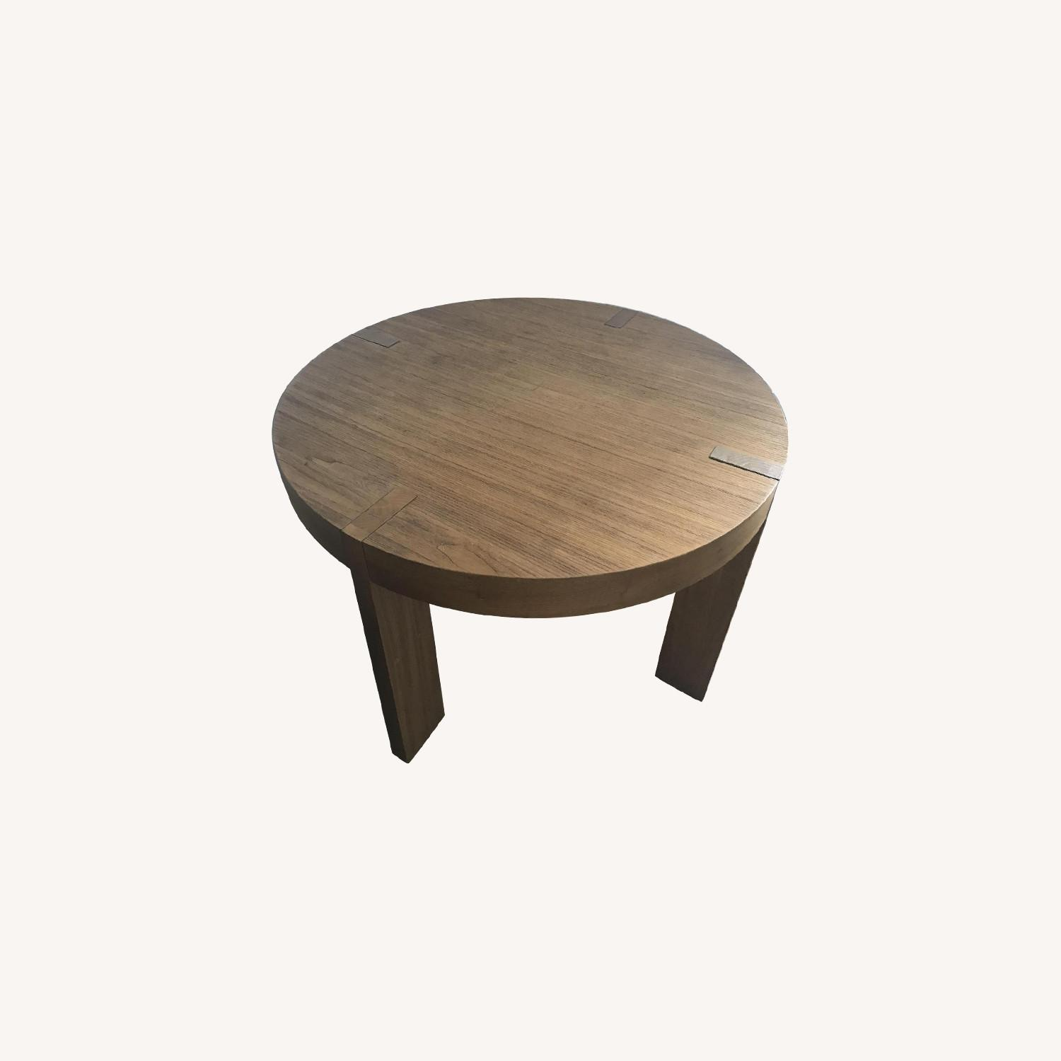 West Elm Rustic/Industrial Round Table - image-0