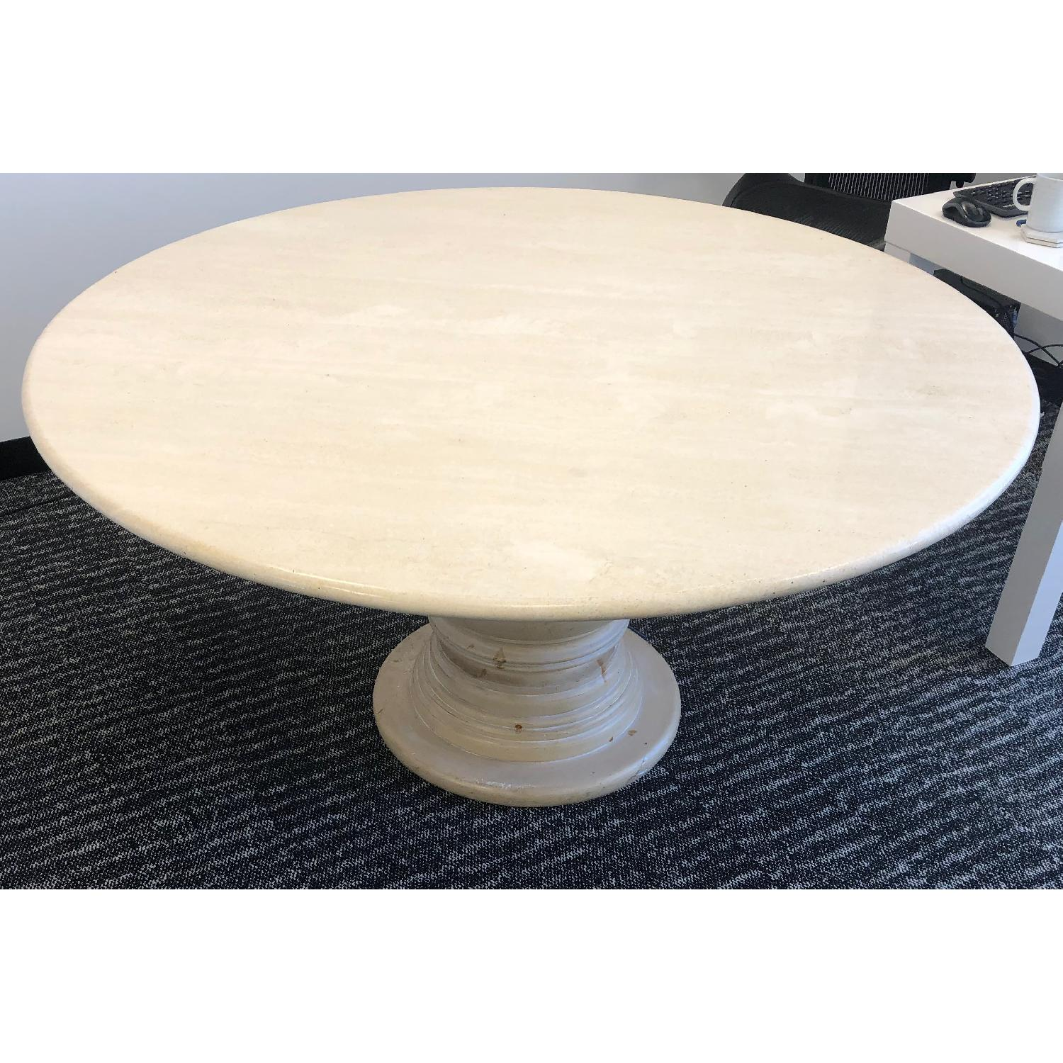 Travertine Marble Dining Table - image-1