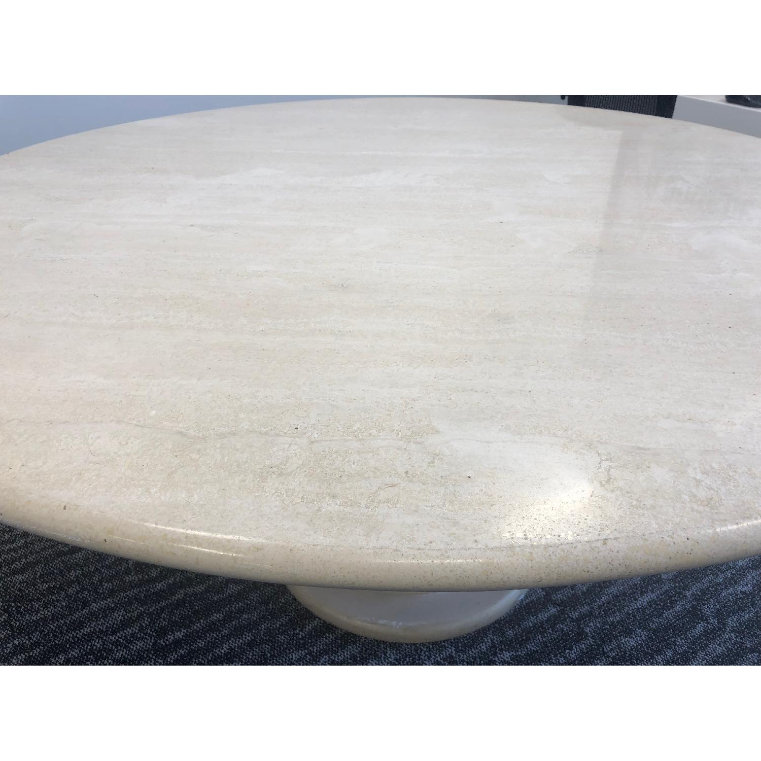 Travertine Marble Dining Table - image-3