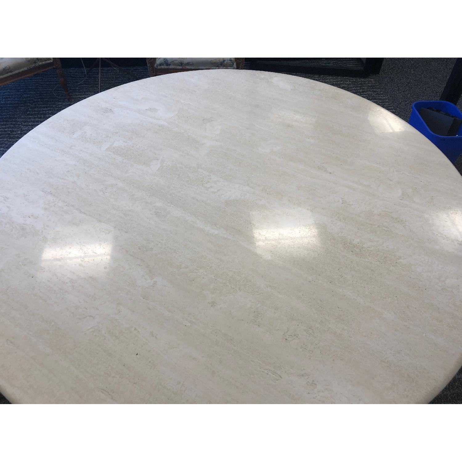 Travertine Marble Dining Table - image-4