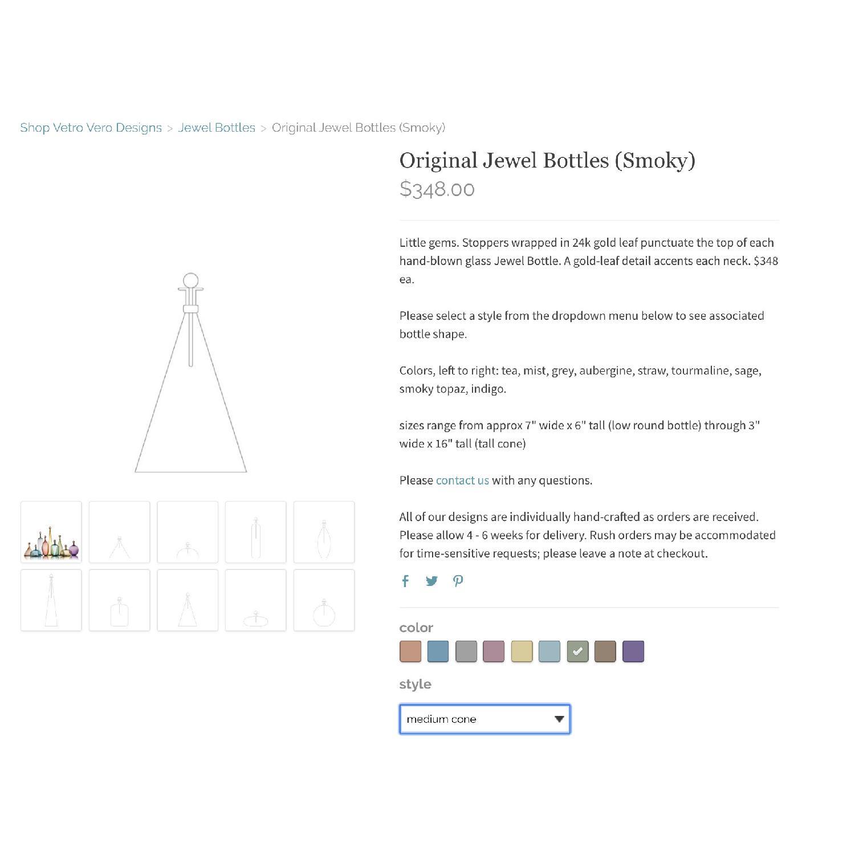 Vetro Vero Original Smoky Jewel Bottle - image-3