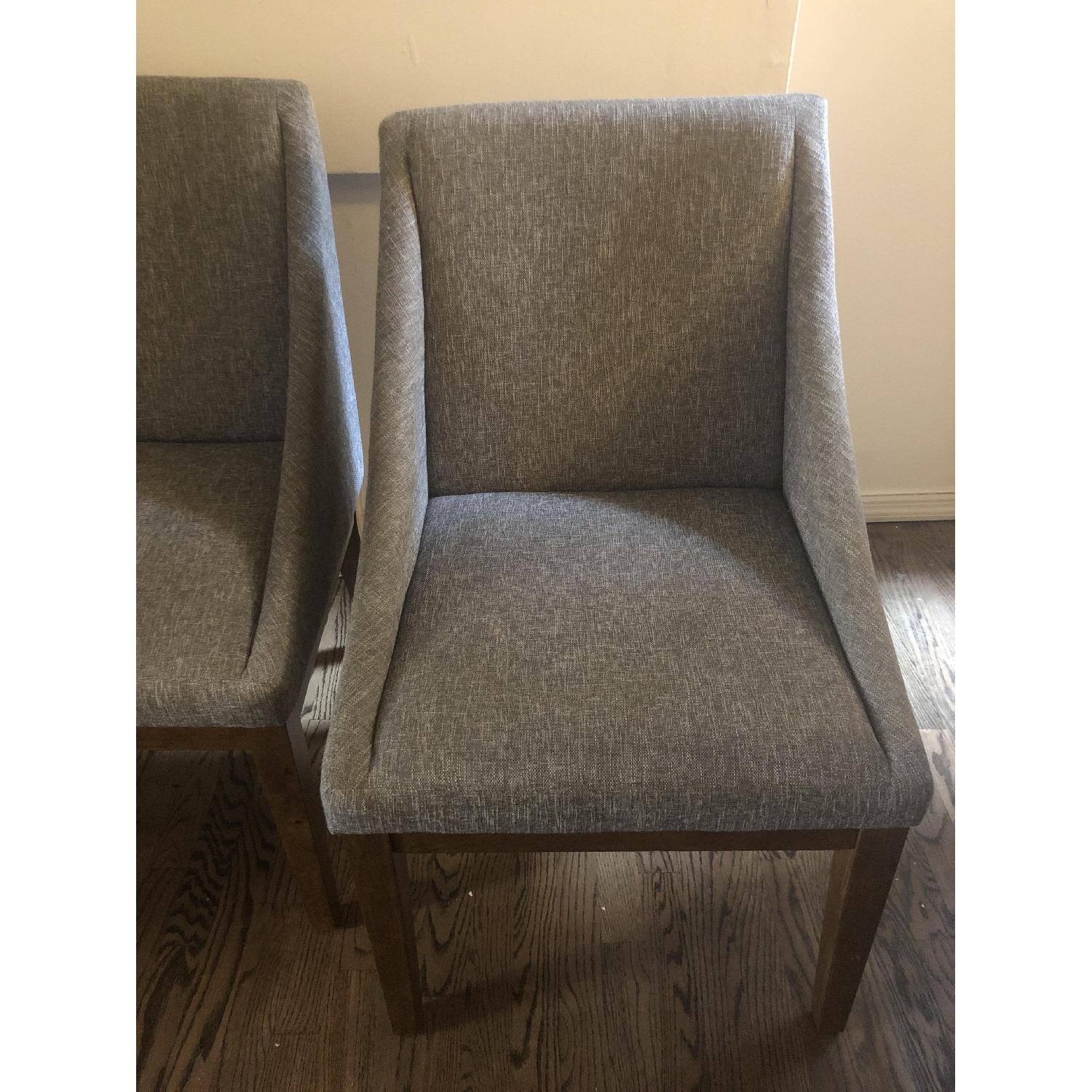 West Elm Curved Upholstered Chairs - image-1