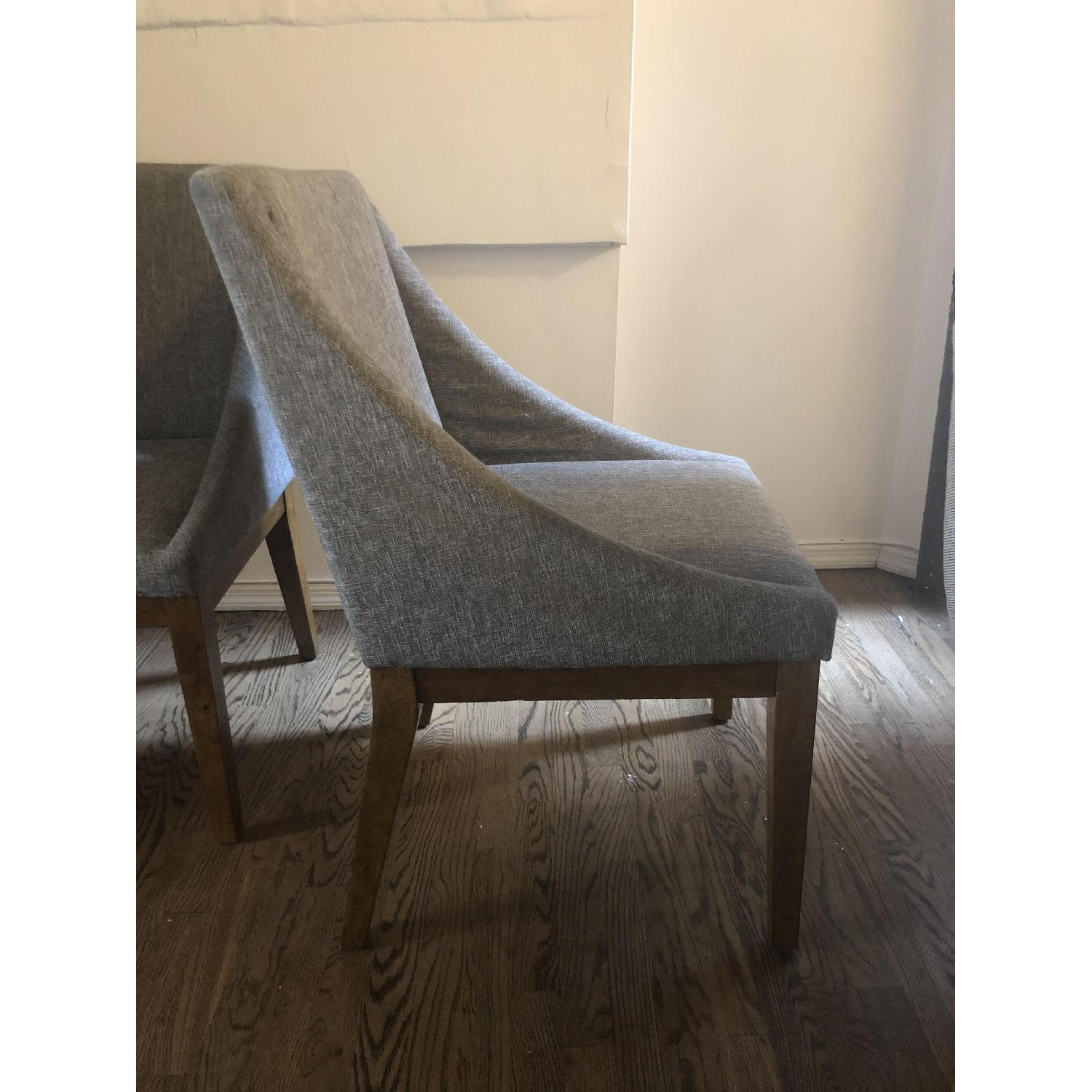 West Elm Curved Upholstered Chairs - image-2
