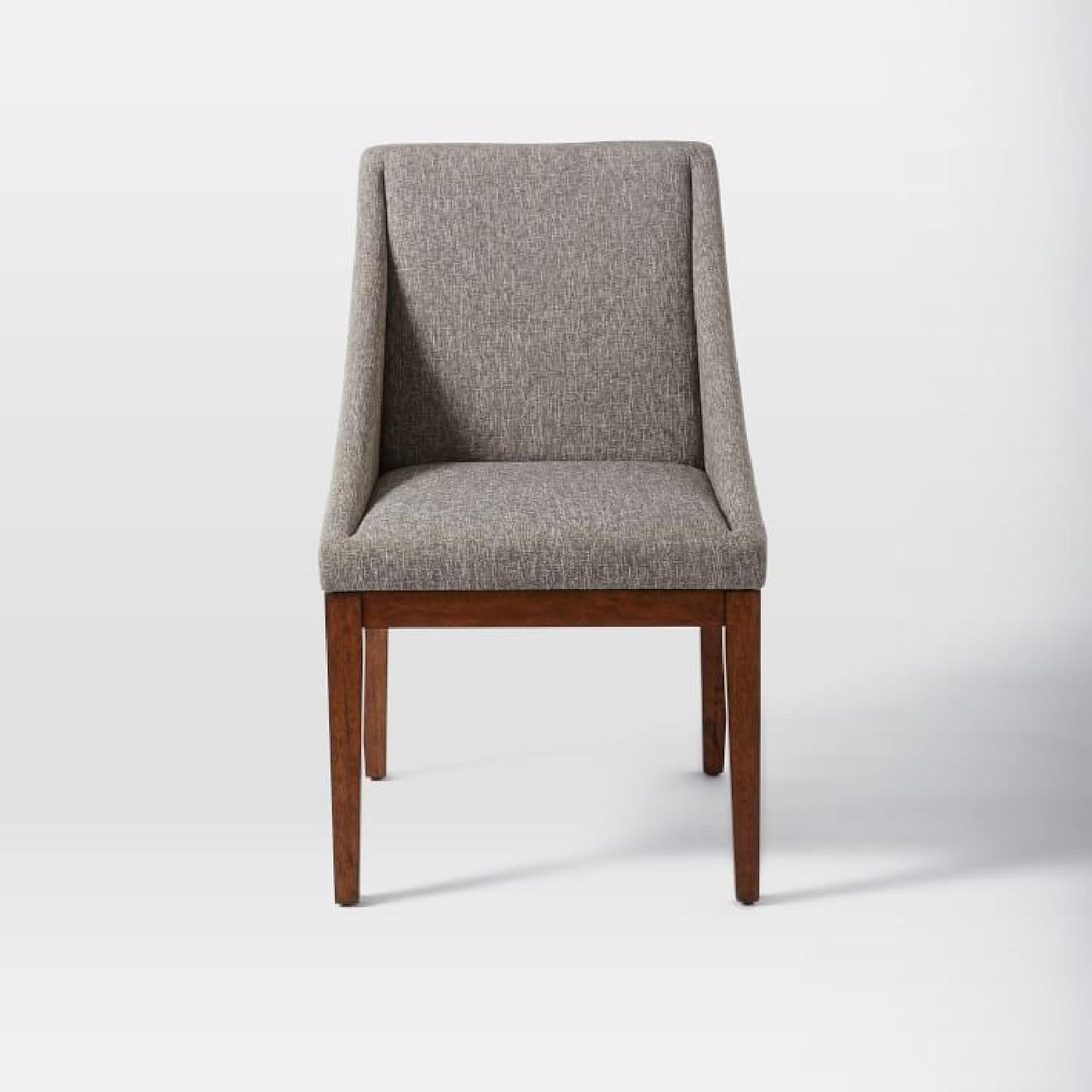 West Elm Curved Upholstered Chairs - image-4