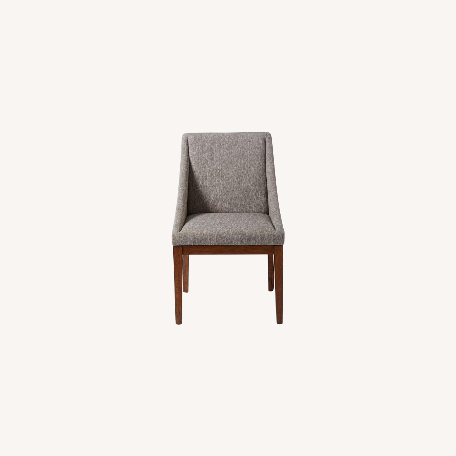 West Elm Curved Upholstered Chairs - image-0