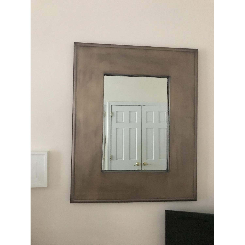 Crate & Barrel Metal Framed Mirror - image-1