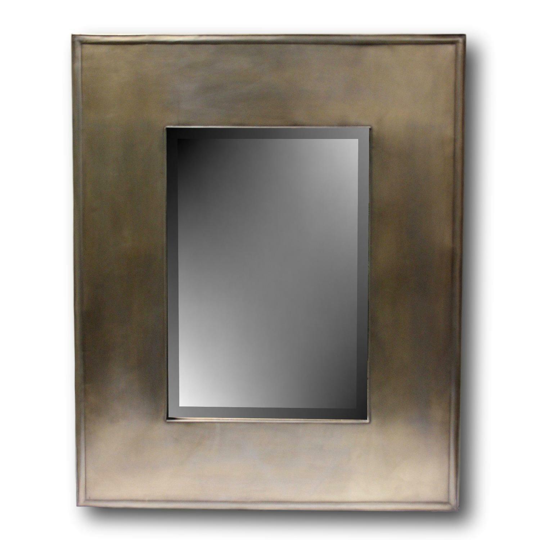 Crate & Barrel Metal Framed Mirror - image-0