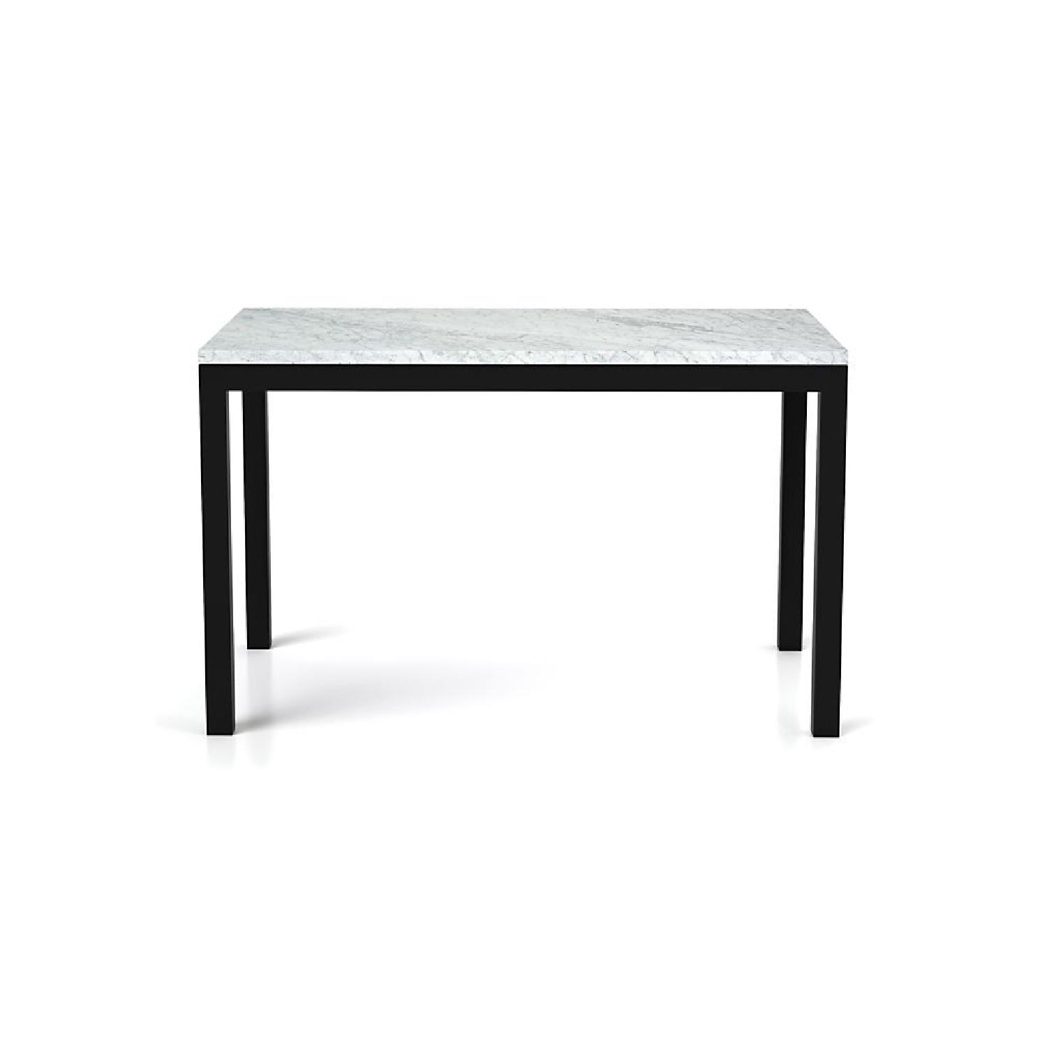 Crate & Barrel Carrara Marble High-Top Table w/ Steel Legs - image-0