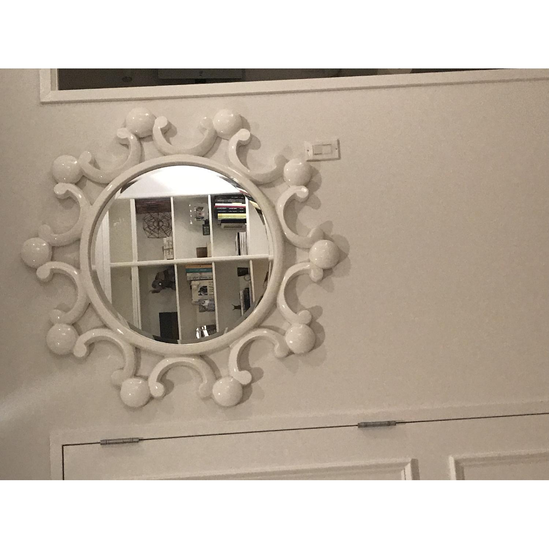 White Bubble Flower Mirror - image-2